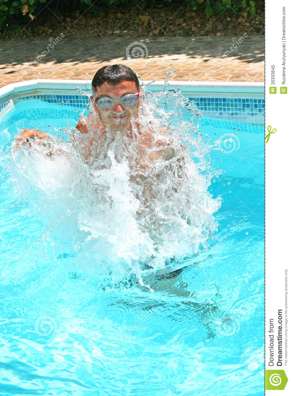 Teen In Swimming Pool Royalty Free Stock Photo - Image -4741