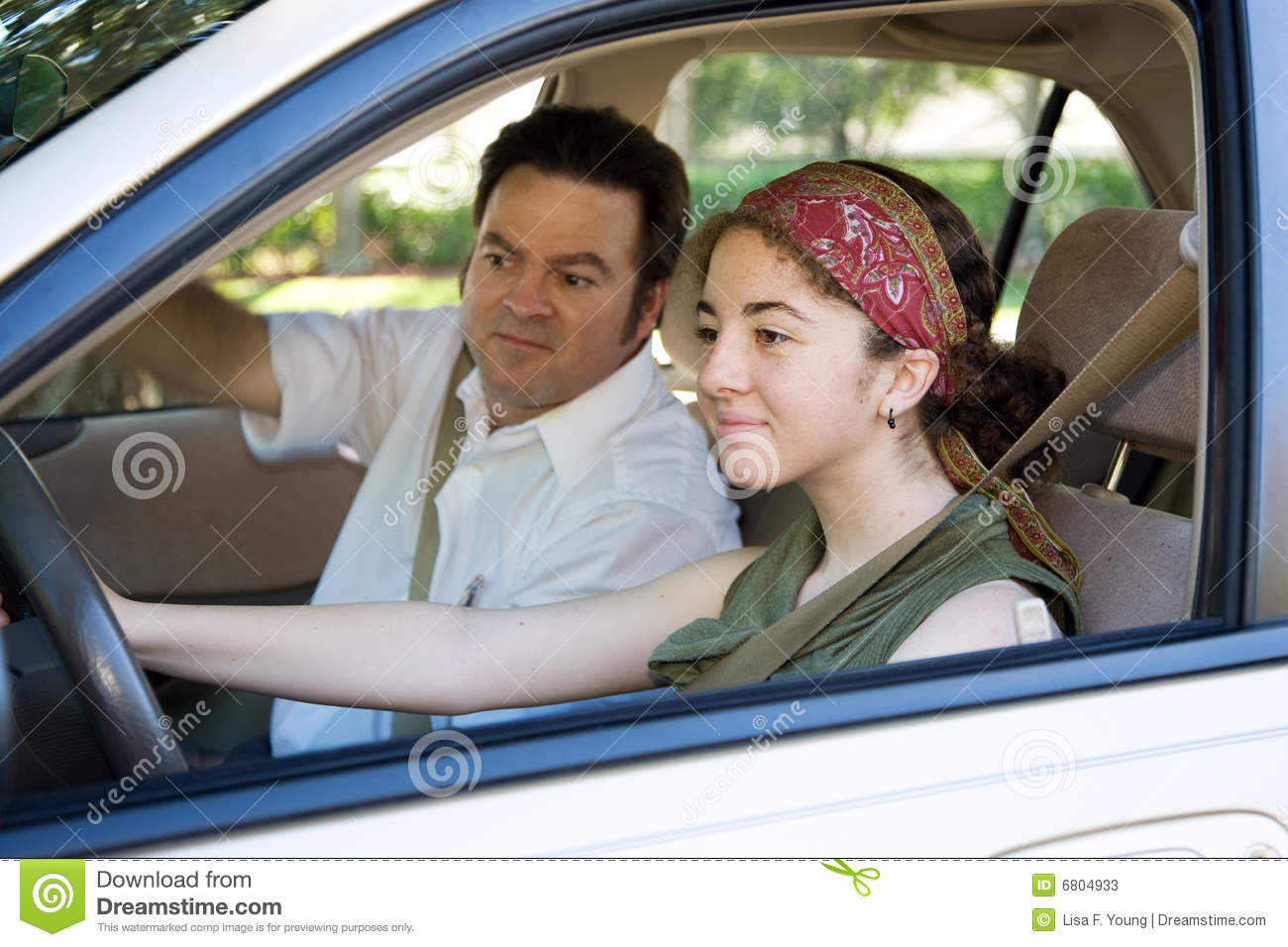 Teen Takes Driving Test