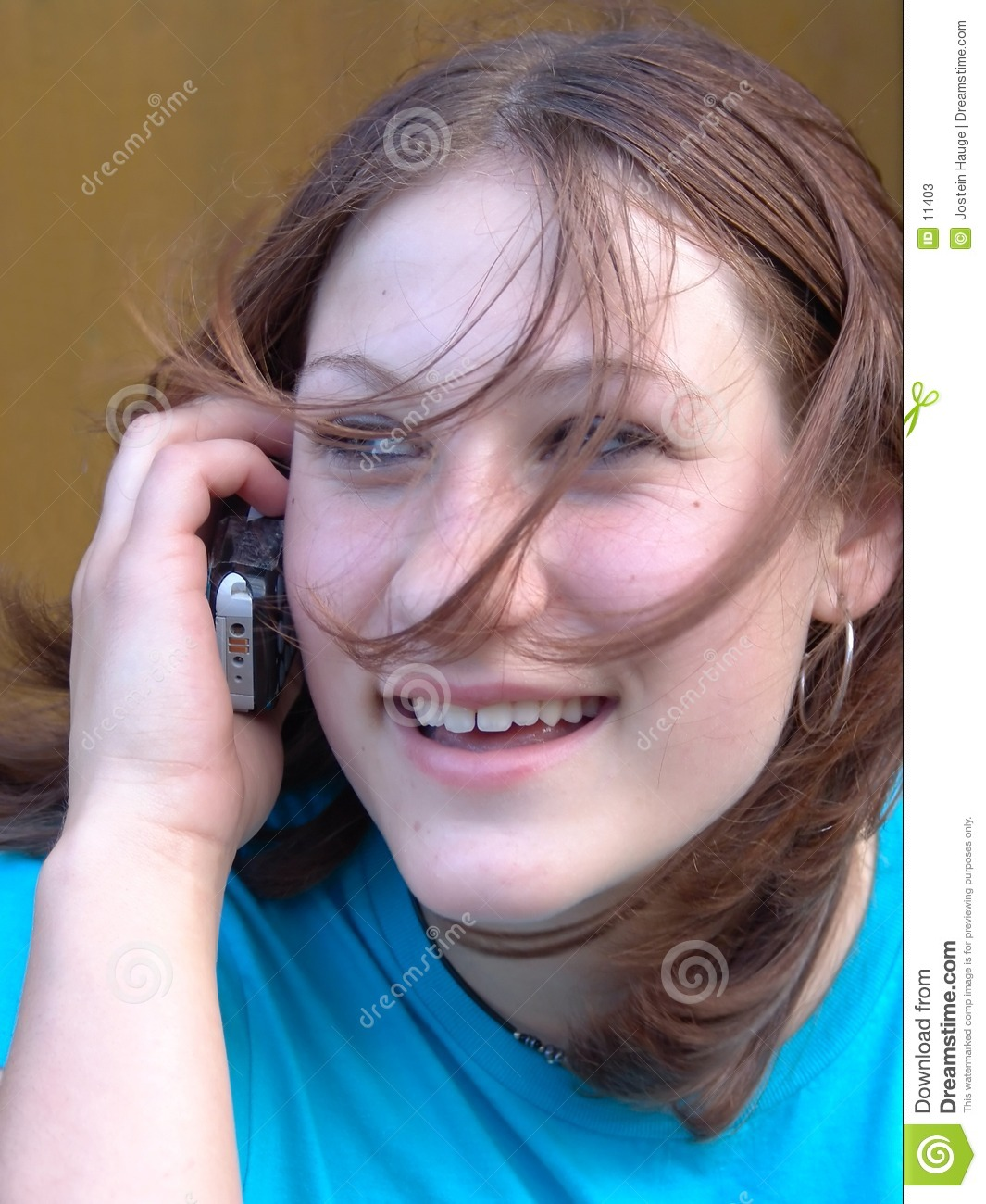 Teen Talking on Cell Phone