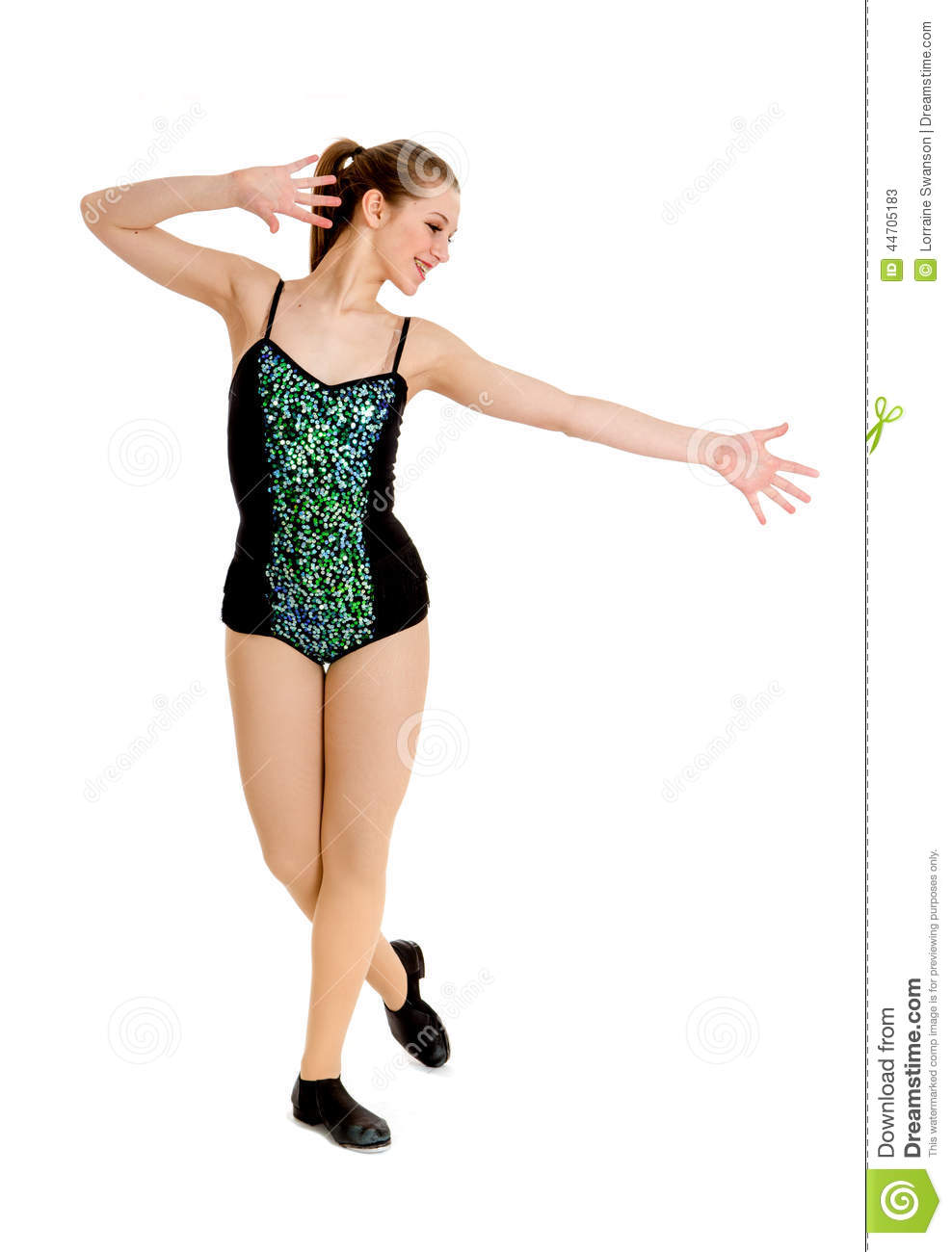 d960cc096 Teen Tap Dance Student stock image. Image of alone, female - 44705183