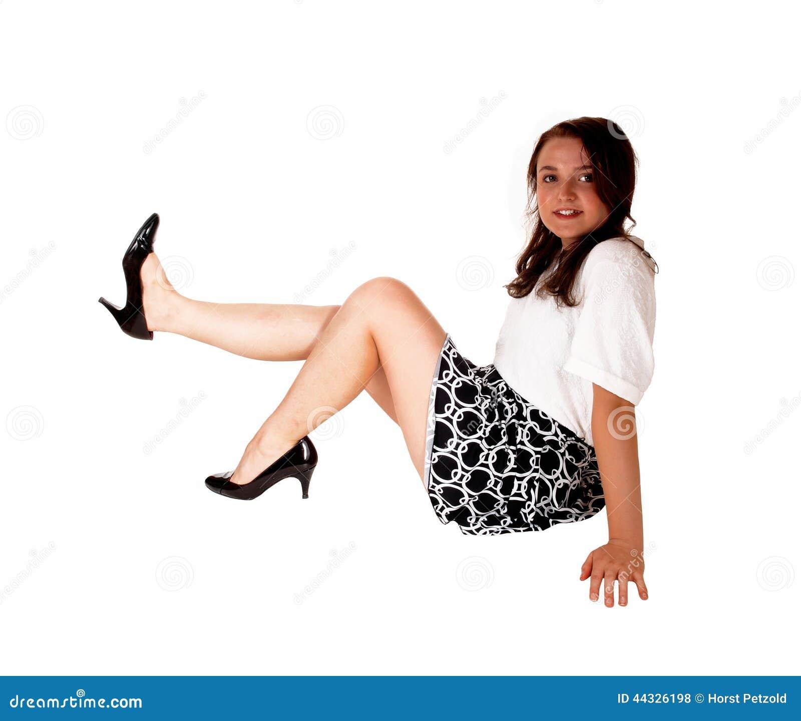 Asian Teen Riding On Floor 55