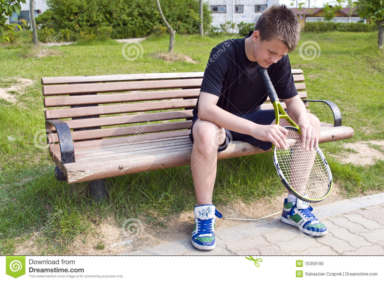 Teen Tennis Player Stock Photo - Image: 15359180