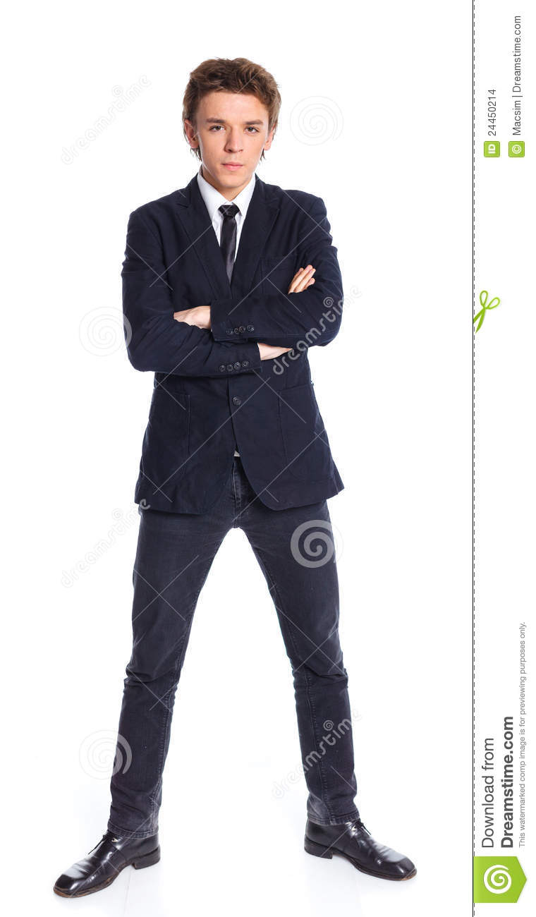 Teenage Boy In A Business Suit Stock Images - Image: 24450214