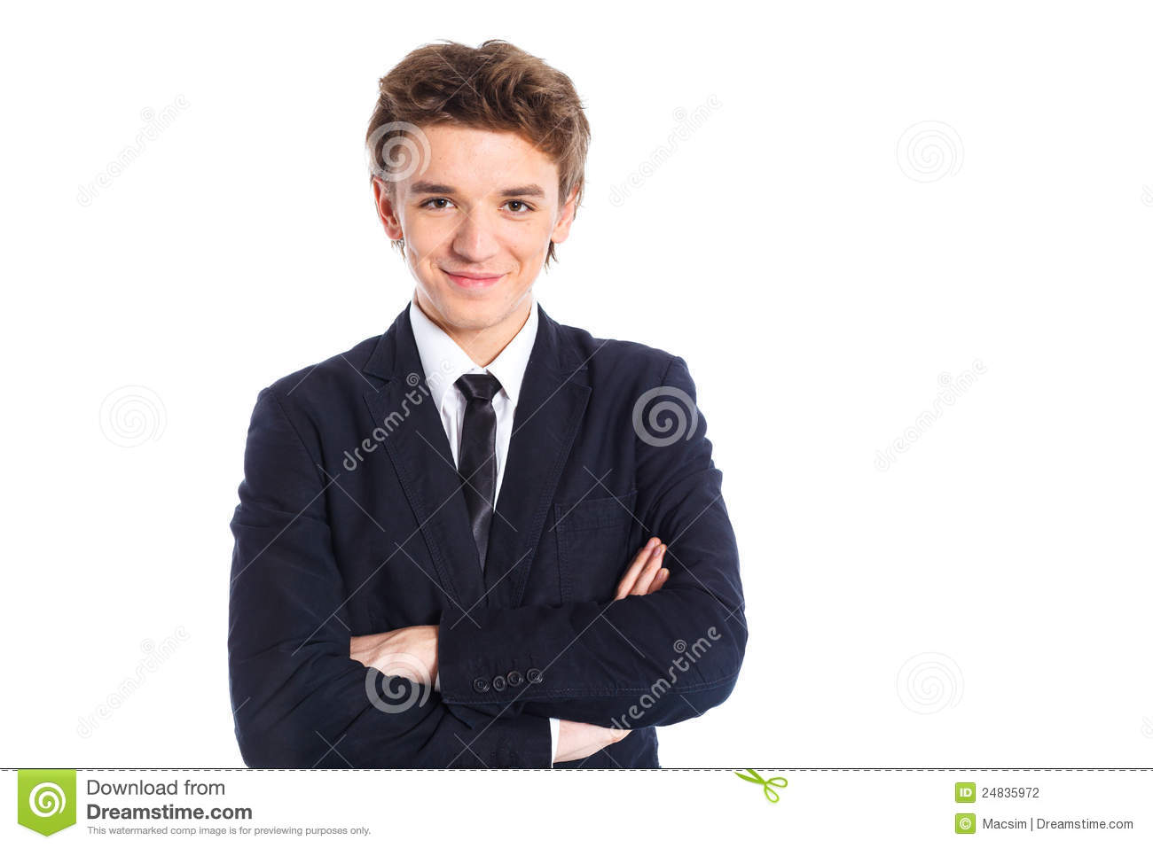 Teenage Boy In A Business Suit Stock Photography - Image .