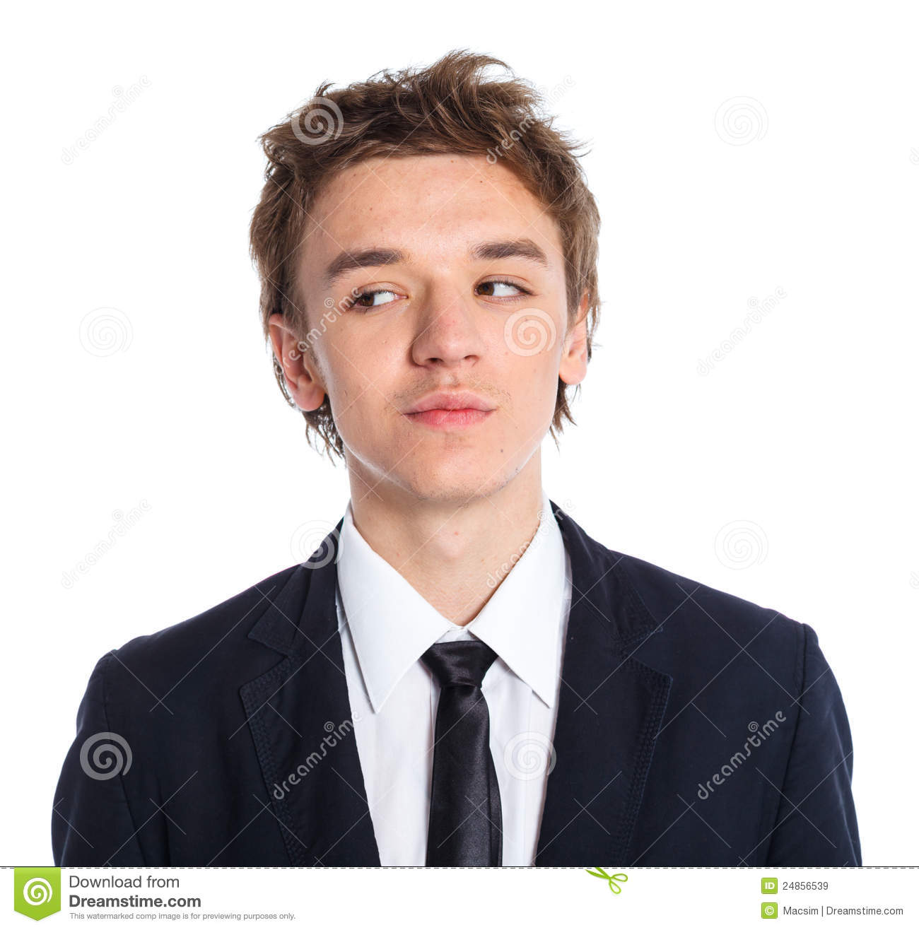 Teenage Boy In Business Suit Stock Images - Image: 12316224