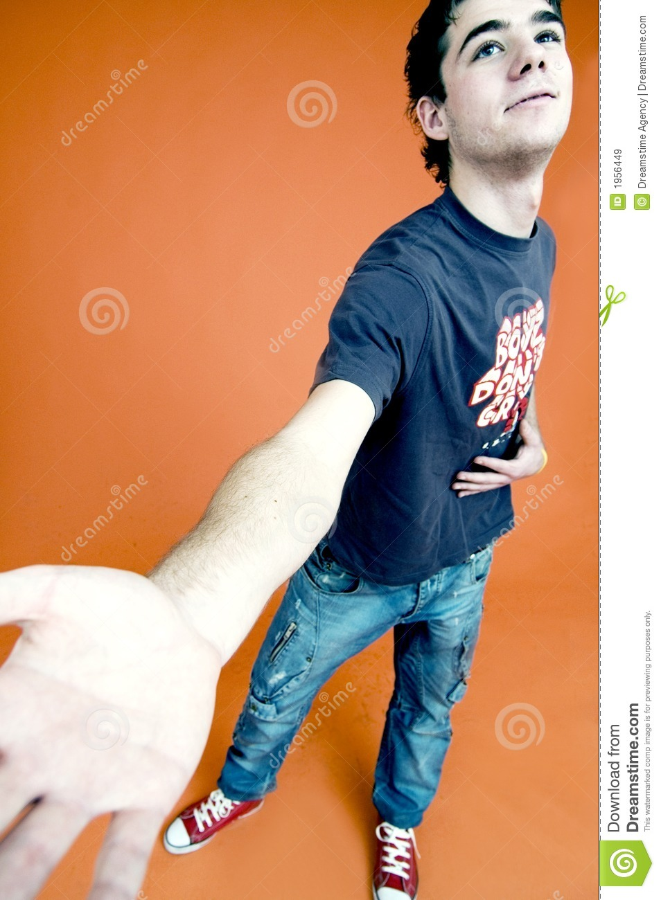 Teenage Boy With Hand Out