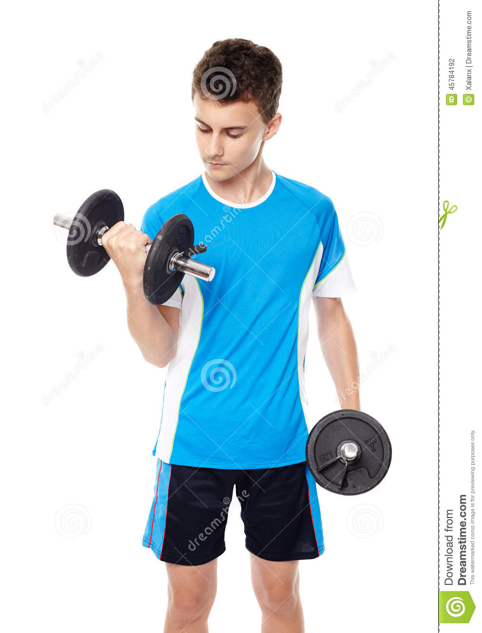 Teenage Boy Working Out Stock Photo - Image: 45784192