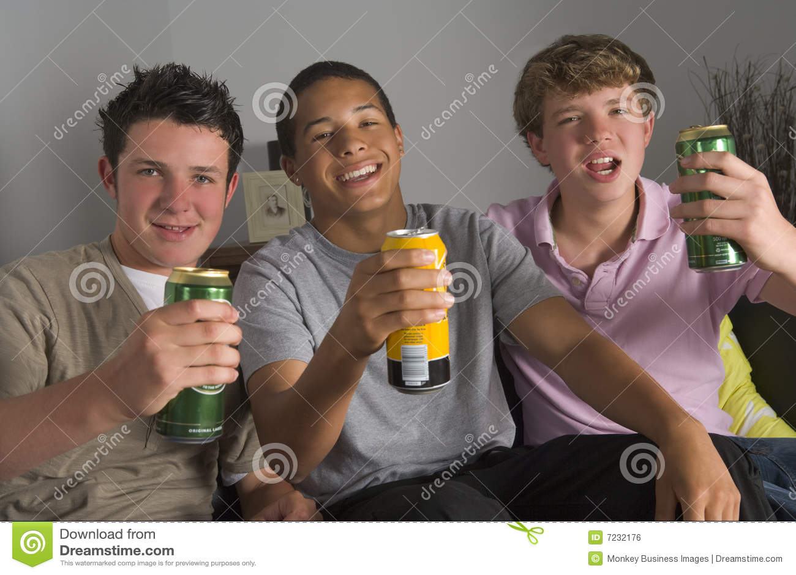 Teenage Boys Drinking Beer Royalty Free Stock Image
