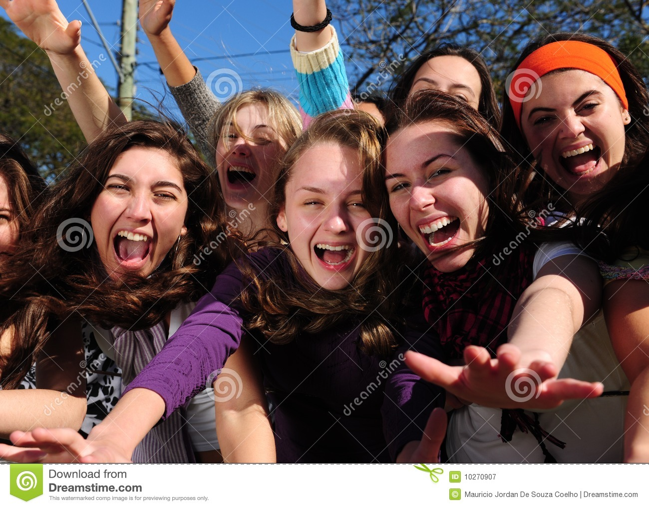Teenage Fans Screaming Royalty Free Stock Photography ...
