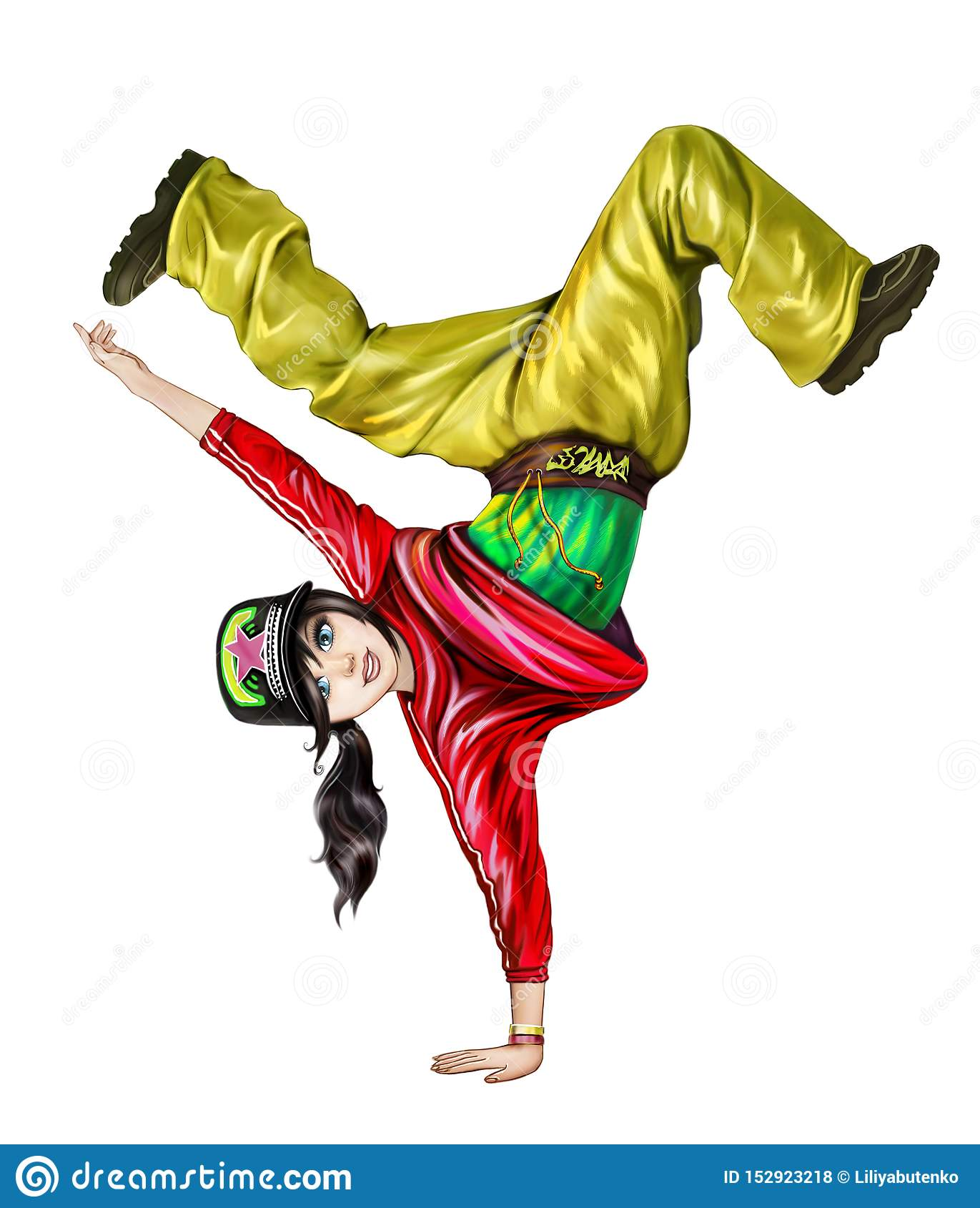 Teenage girl dancing