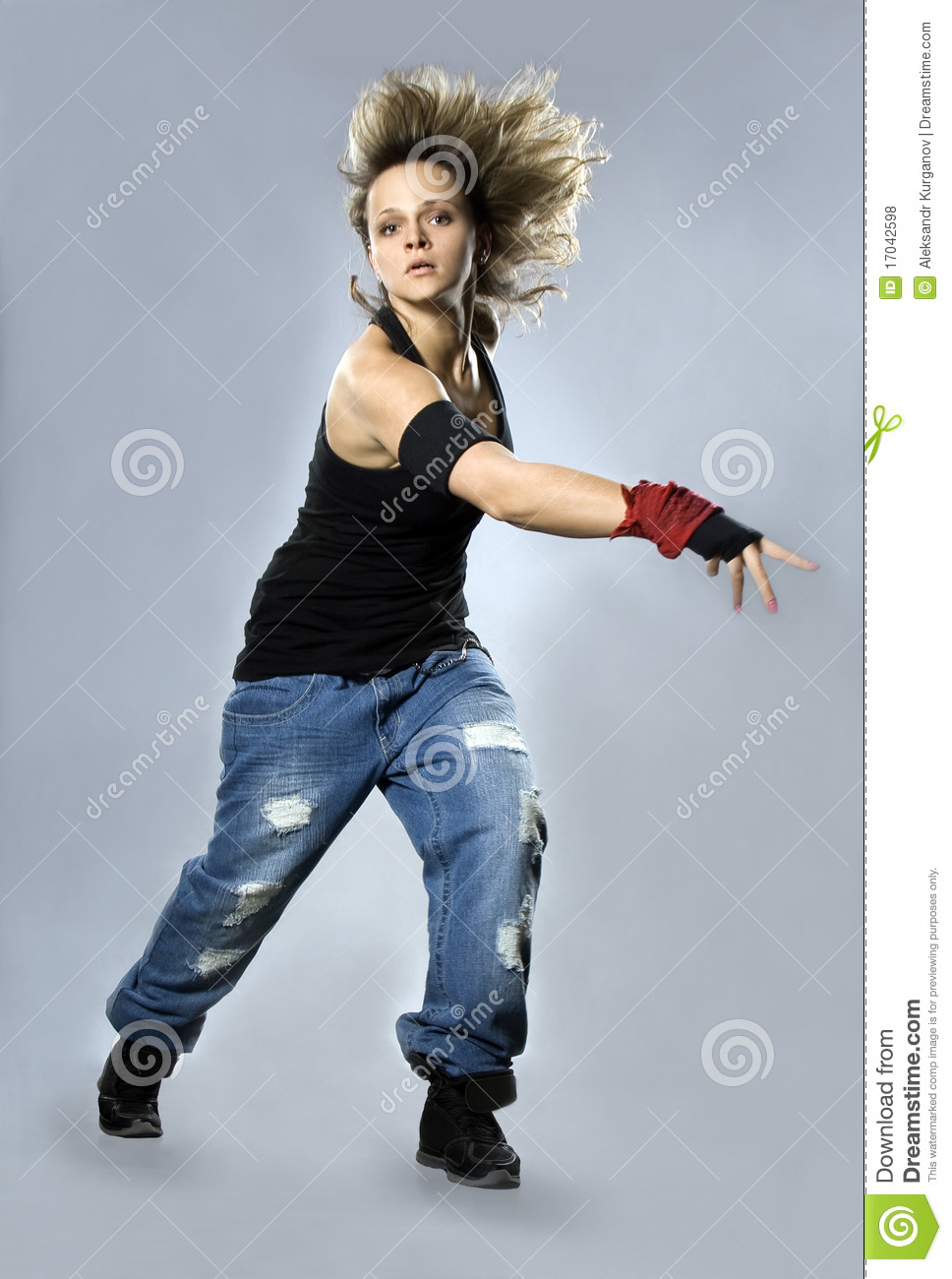 Teenage Girl Dancing Breakdance In Action Royalty Free Stock Photos ...