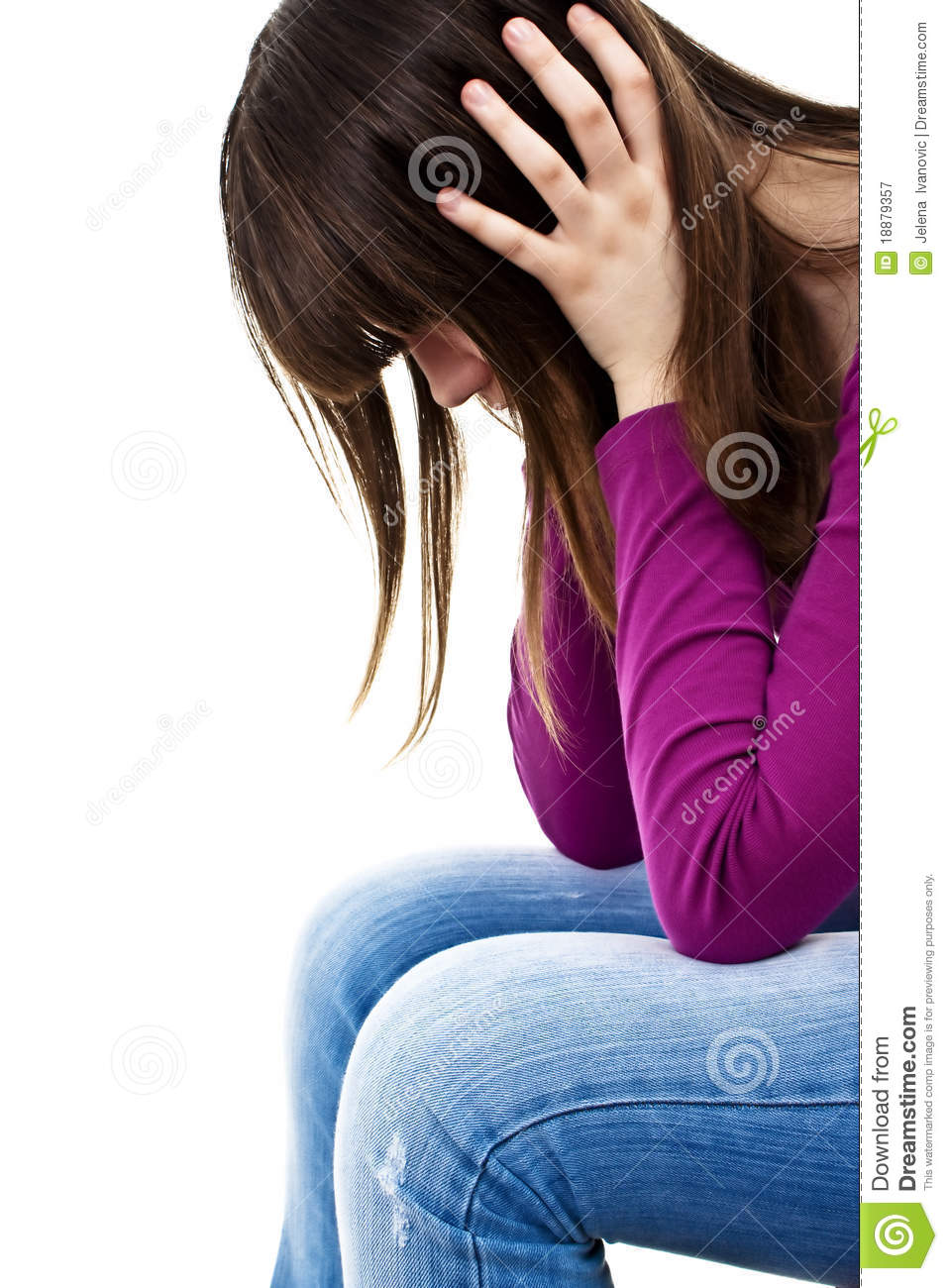 Teenage Girl Depression - Lost Love Stock Image - Image ...