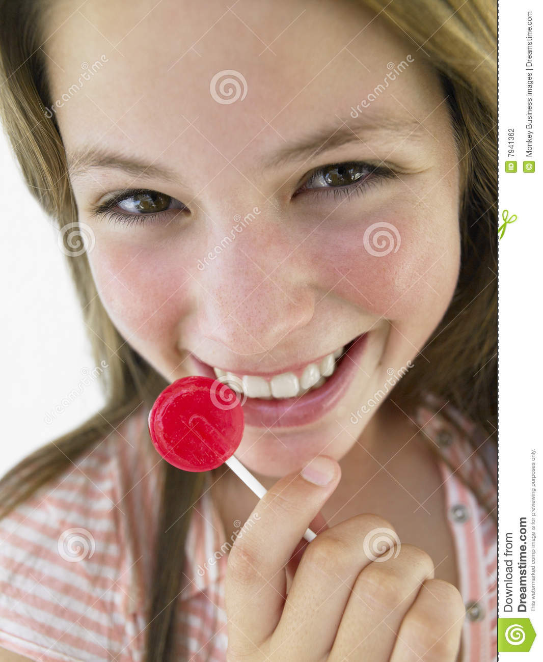 Think, Teen girl with lollipop