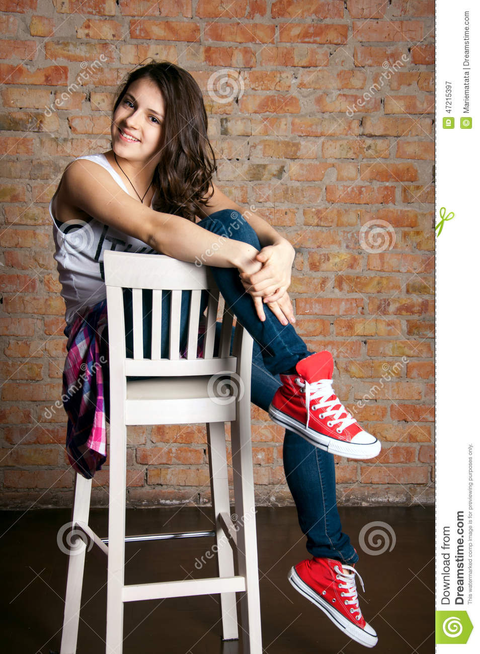 Teenage Girl Fashion Stock Photo Image 47215397