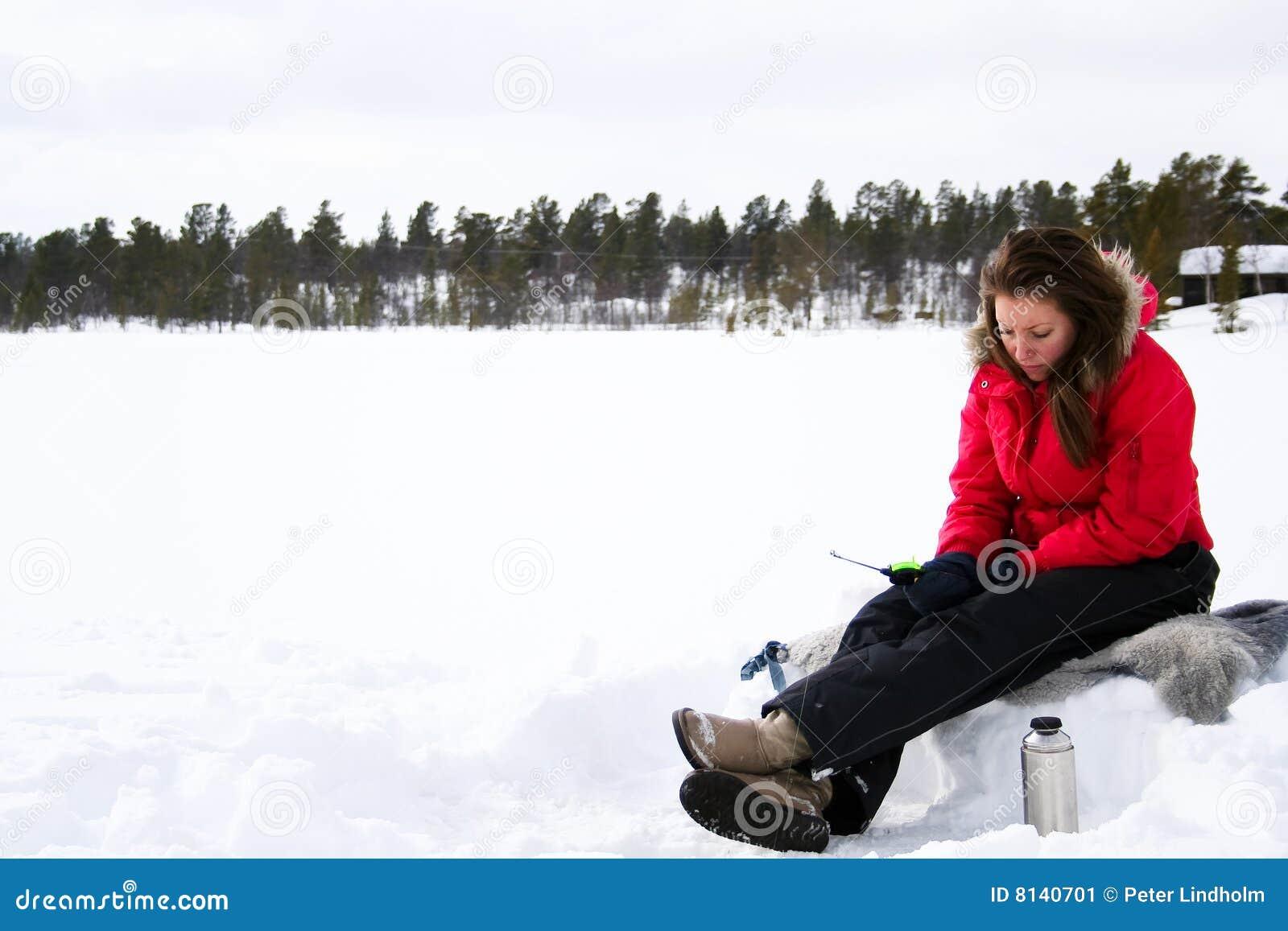 Ice fishing girls - photo#16