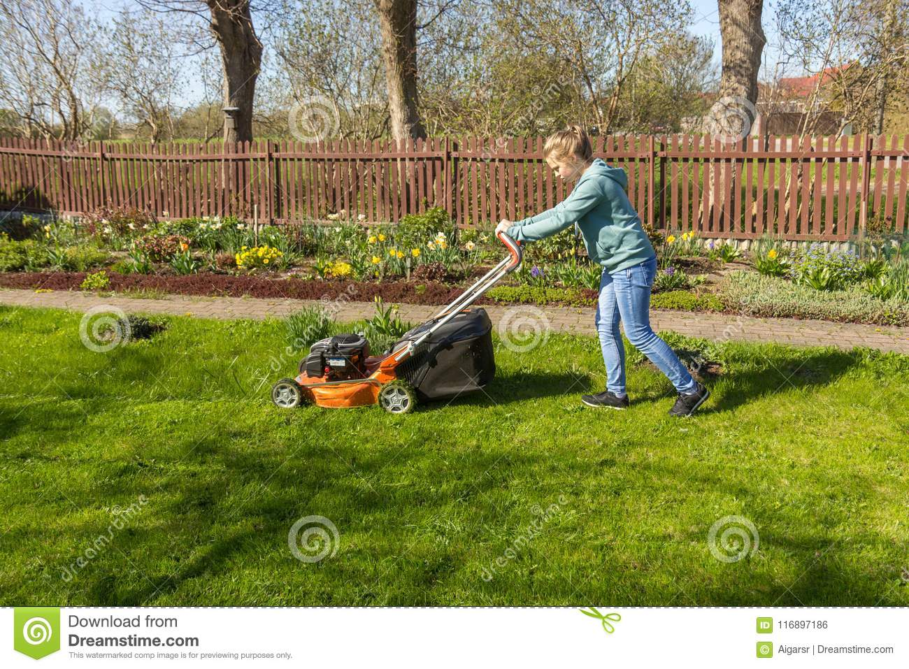 Pornographic Actresses Teenage Girls Doing Yard Work