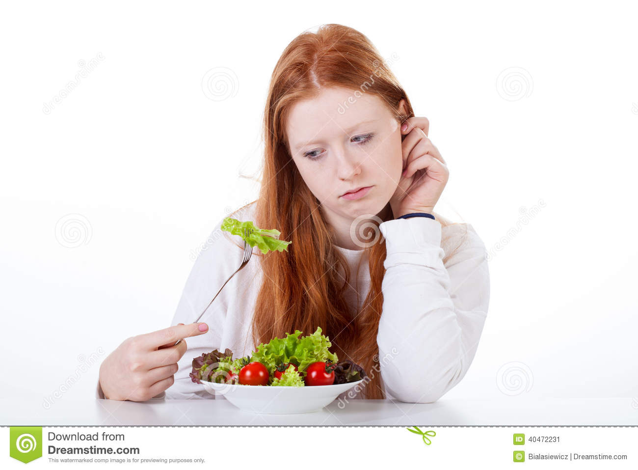 Teenage Girl With No Appetite Stock Image - Image: 40472231