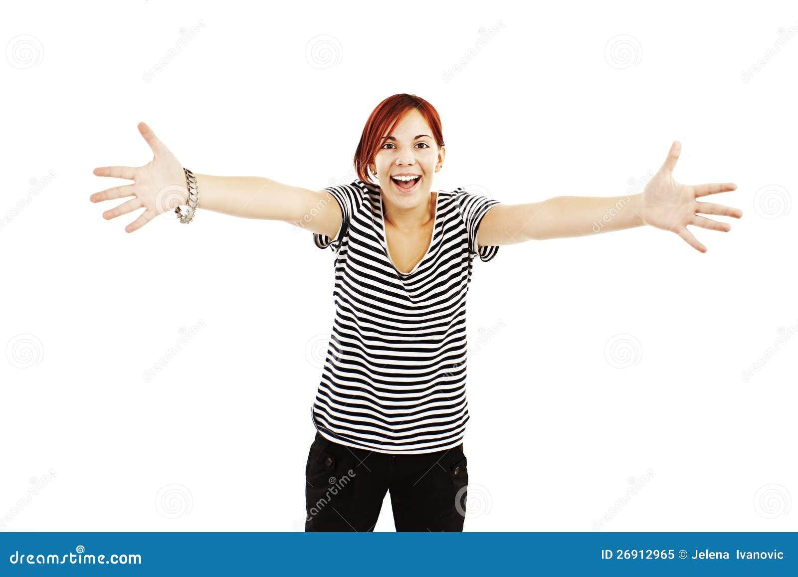 girl arms up Teen