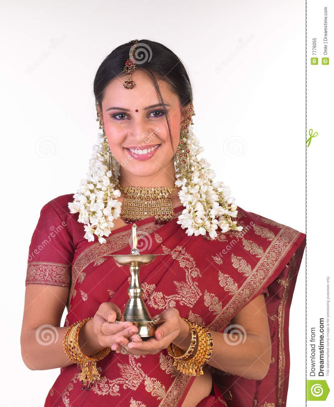 Teenage Girl With Sari Holding The Lamp Stock Image - Image of ... for Girl Holding Lamp  113cpg