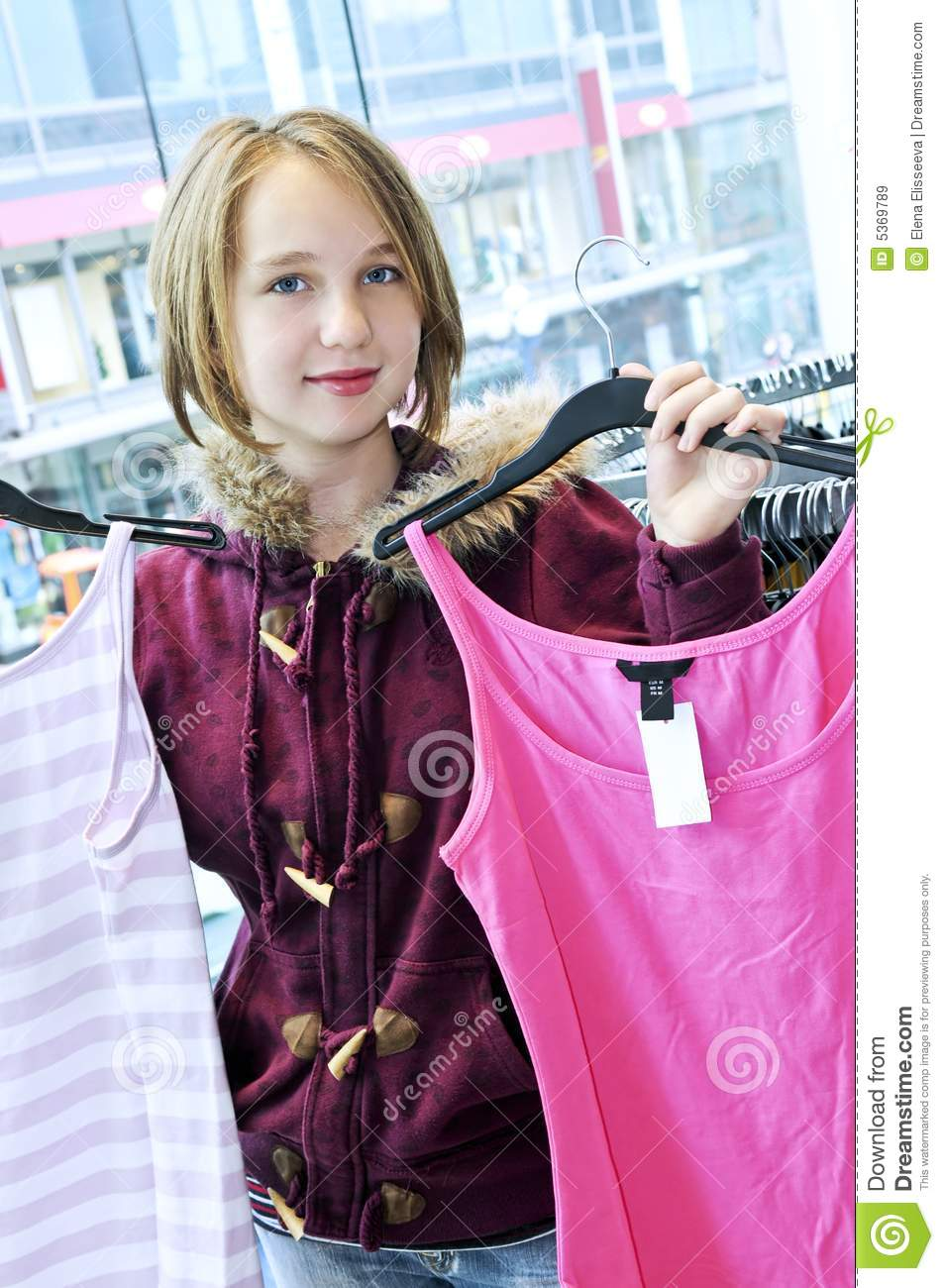 Teenage Girl Shopping Royalty Free Stock Images Image