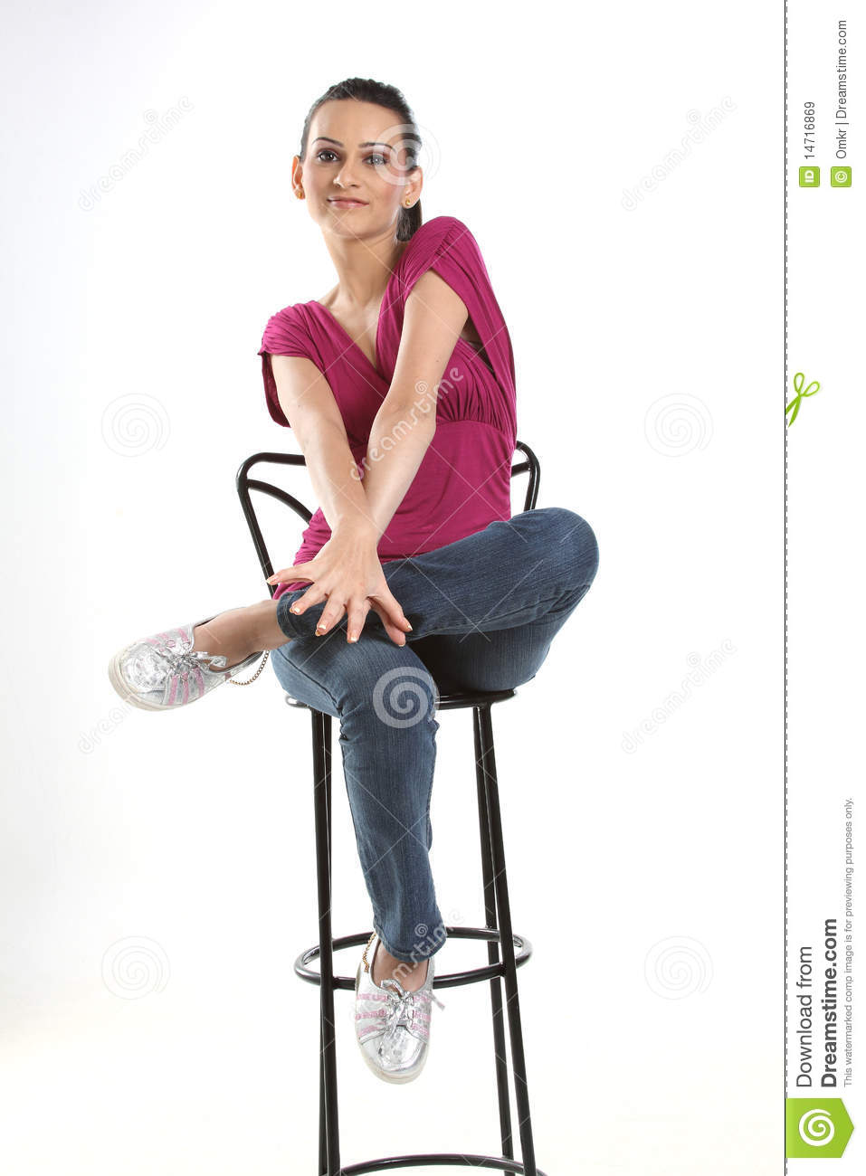 girl on chair sitting Teen