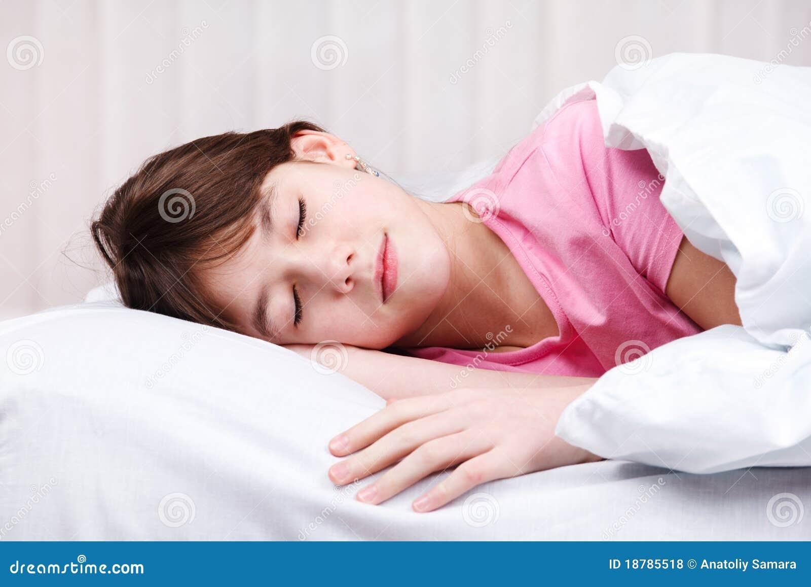 teen with sleeping girl