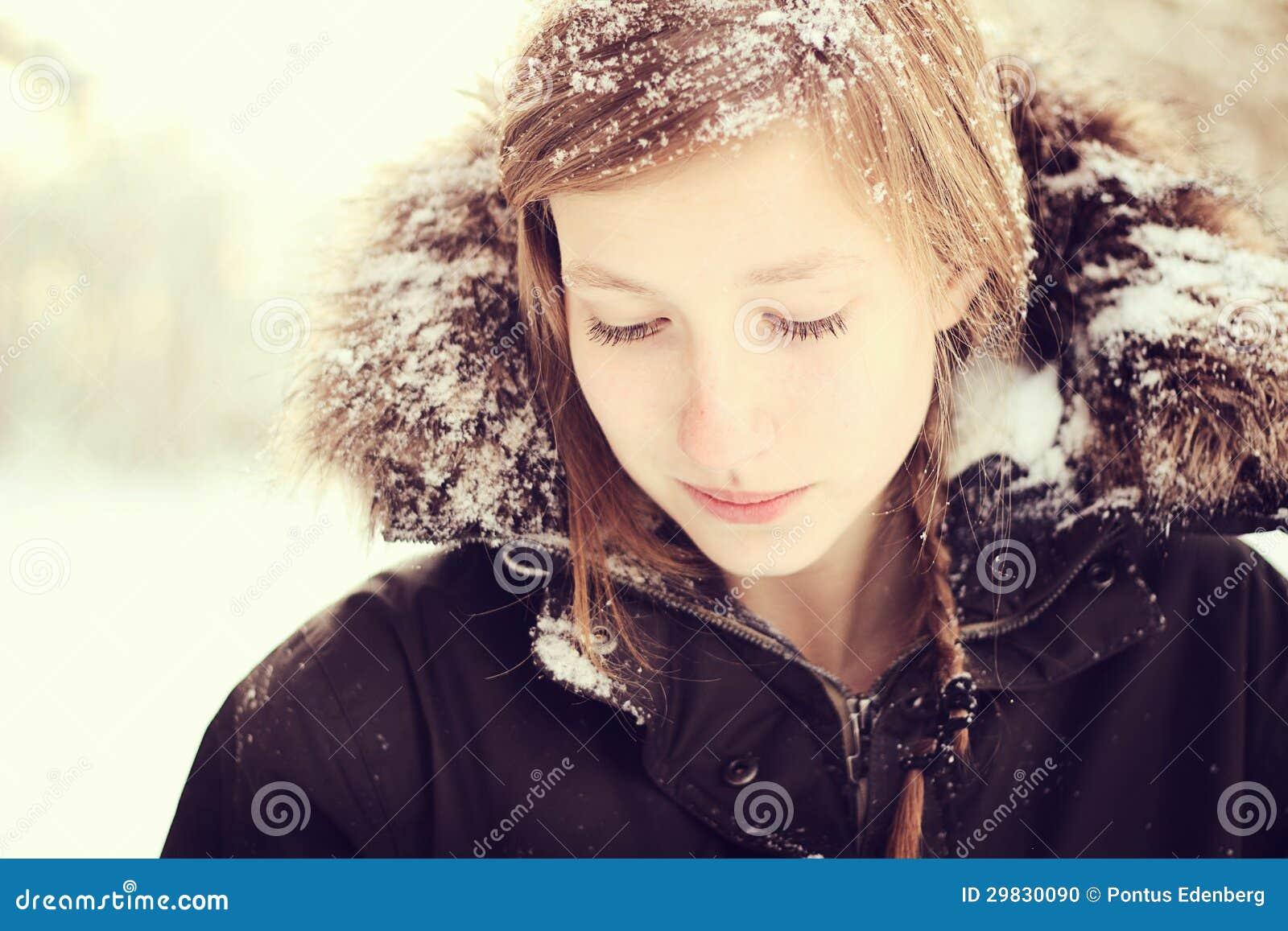Girl In Snow Stock Photo Image 29830090