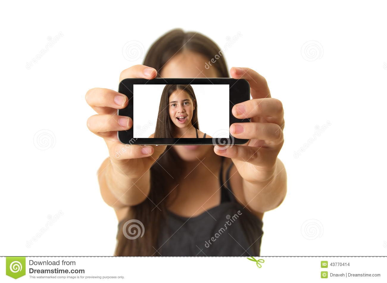Teenage girl taking a selfie