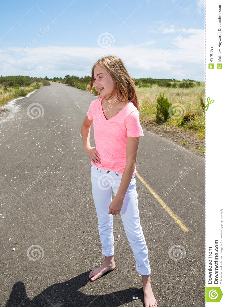 https://thumbs.dreamstime.com/z/teenage-girl-travels-barefoot-empty-road-pretty-teen-walking-country-bare-feet-43787622.jpg