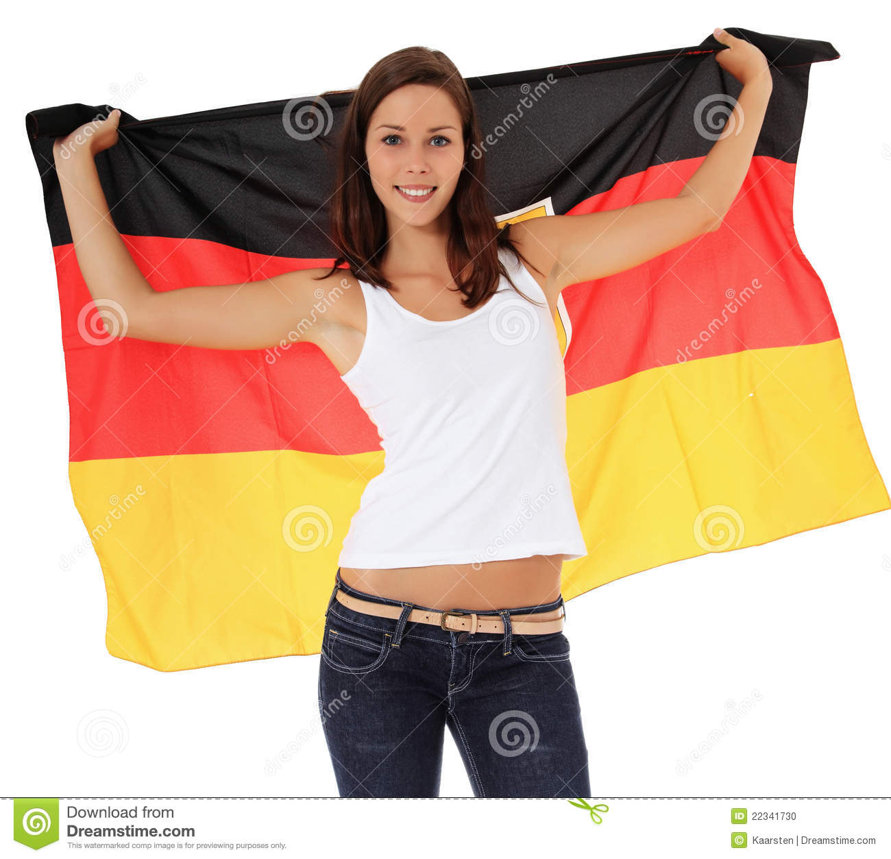 German flag sexy girls
