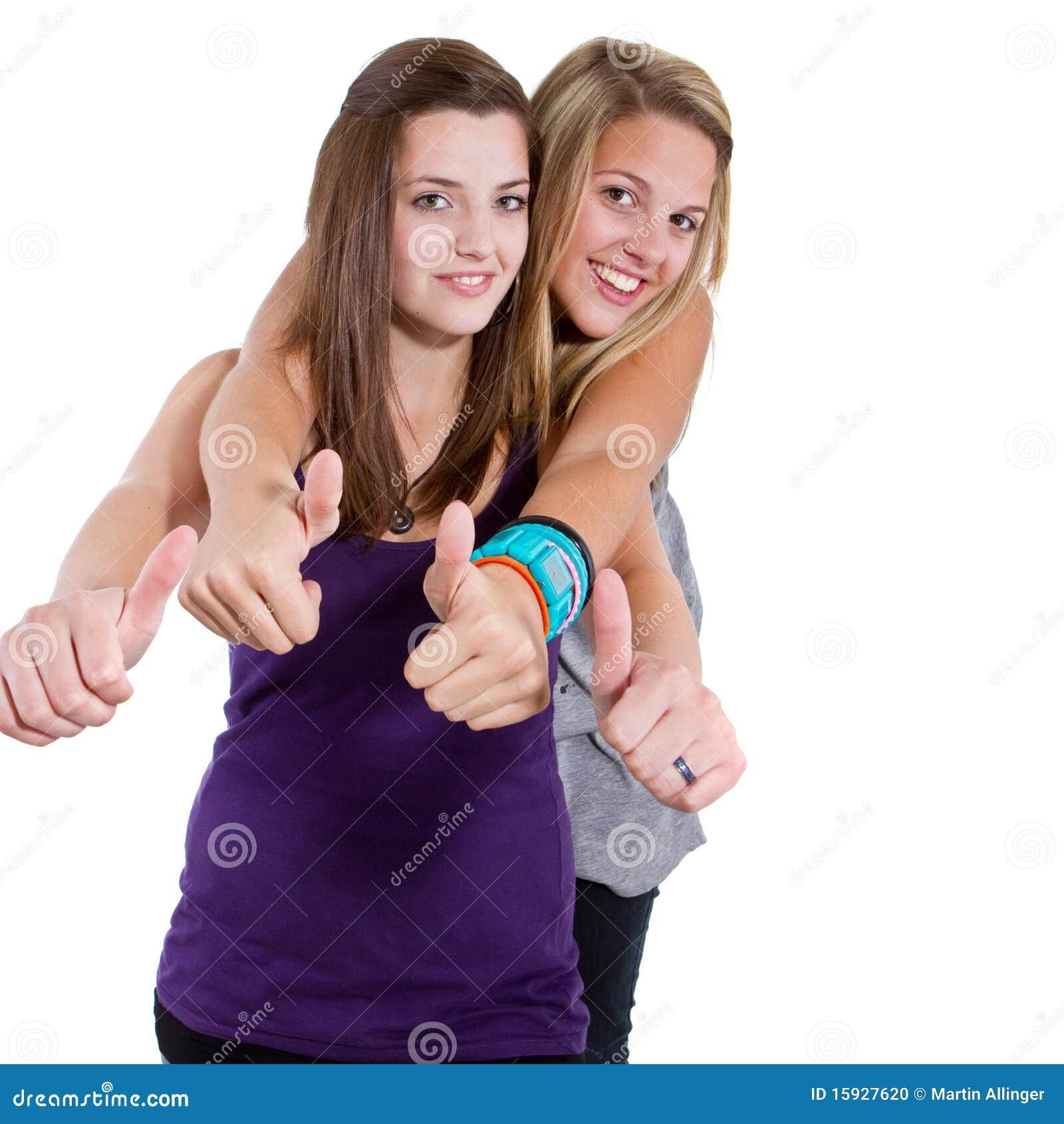 Teenage happy friends