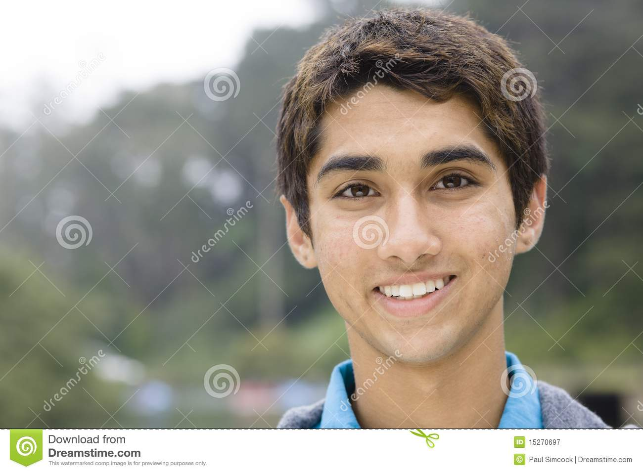 Teenage Indian Boy Stock Image Image Of Outside, Green -5187