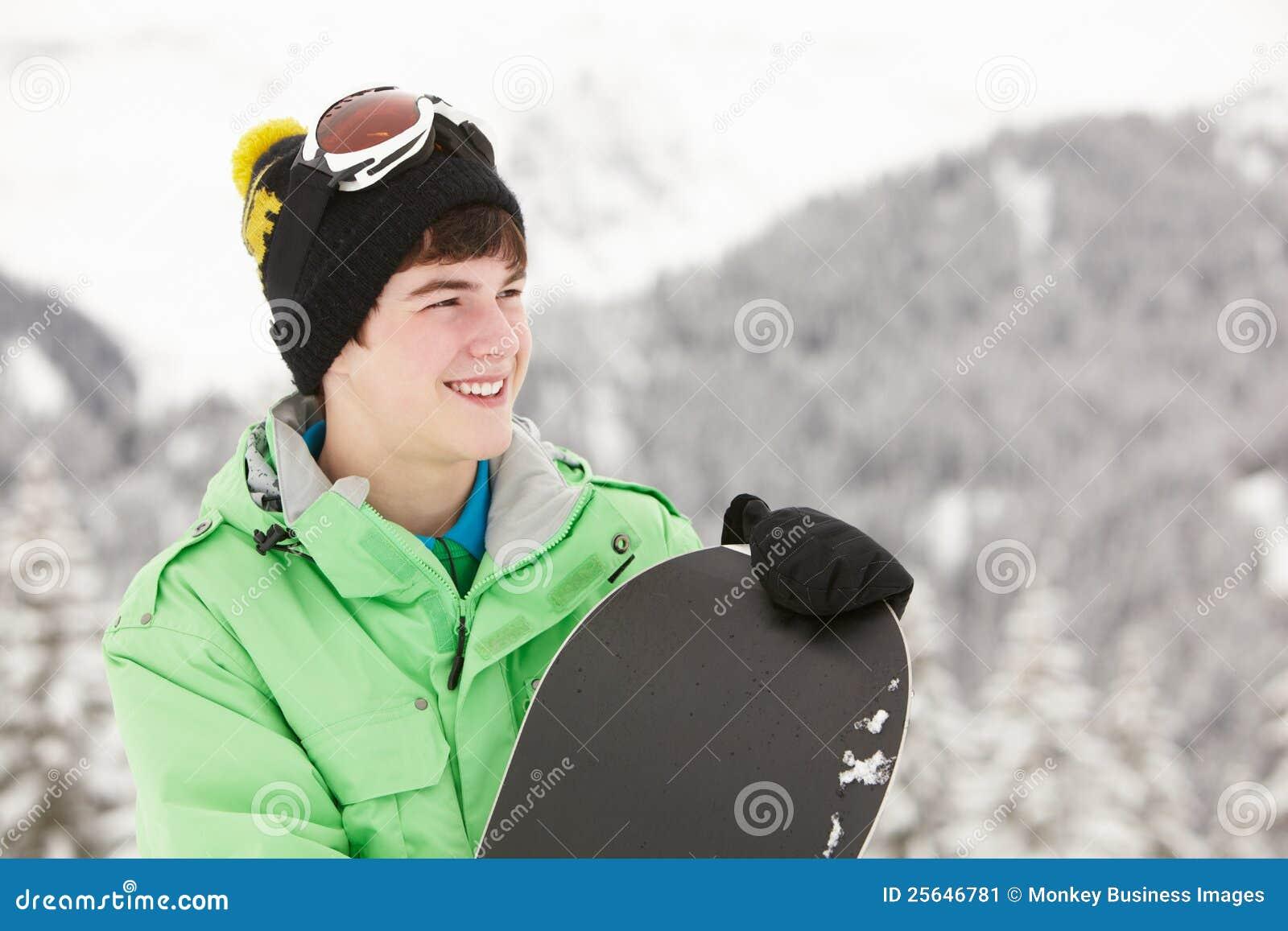 Teen Snowboarding 94