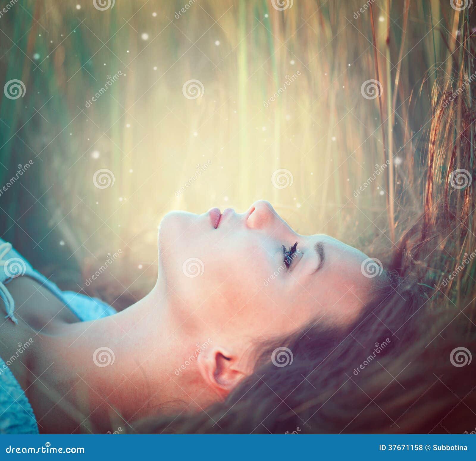 Teenage model girl outdoors
