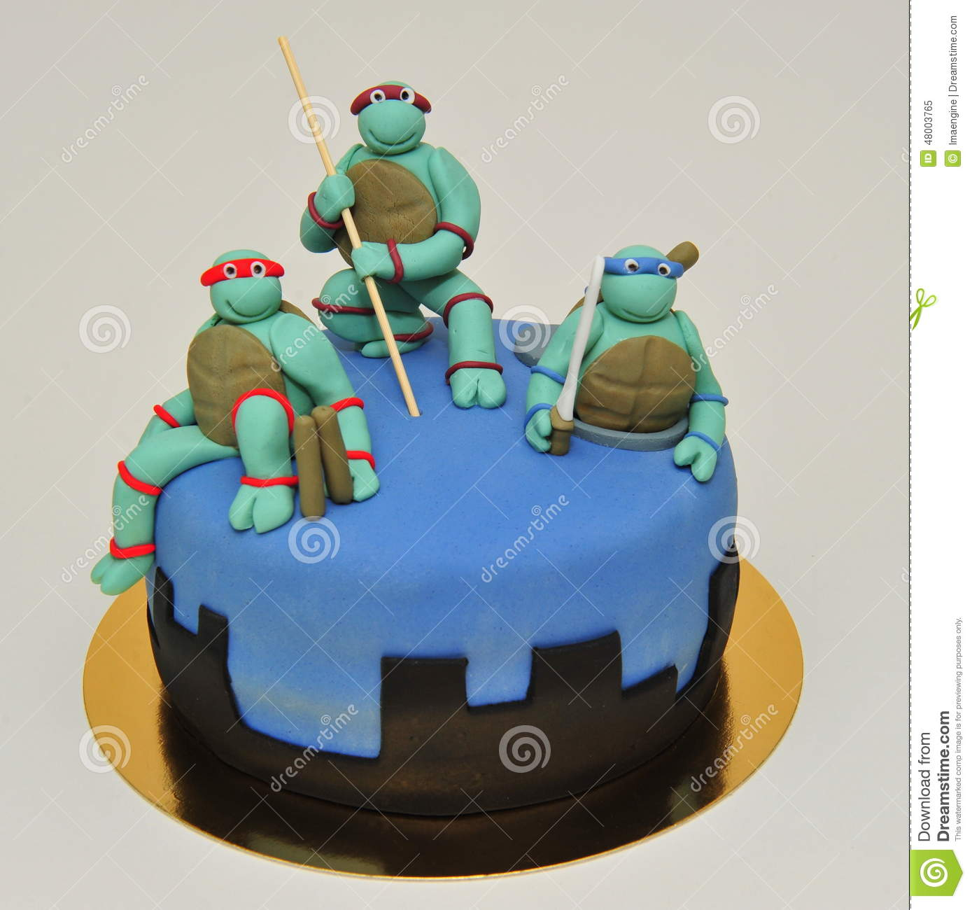 Teenage Ninja Mutant Turtles Cake Editorial Image Image