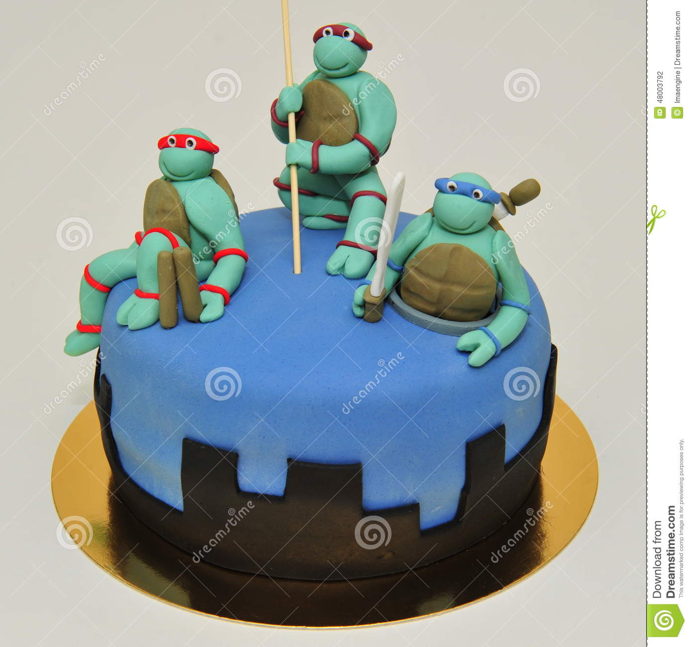 Teenage Ninja Mutant Turtles Cake Editorial Photography