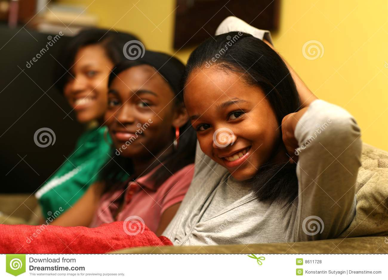 Teenage sisters