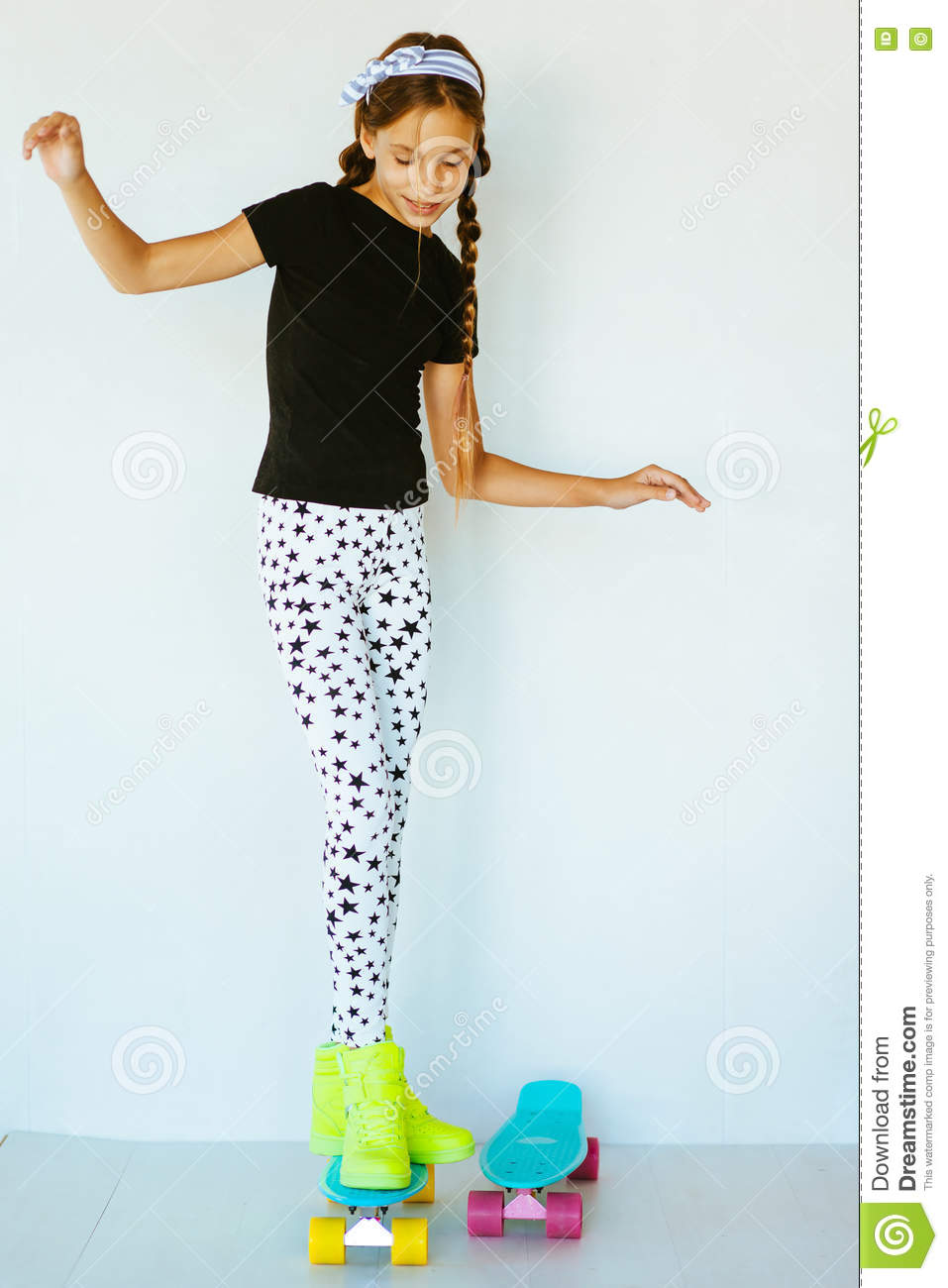 Colorful Teen Stock Image Image Of Lipstick Portrait: Teenage Skater Stock Photo
