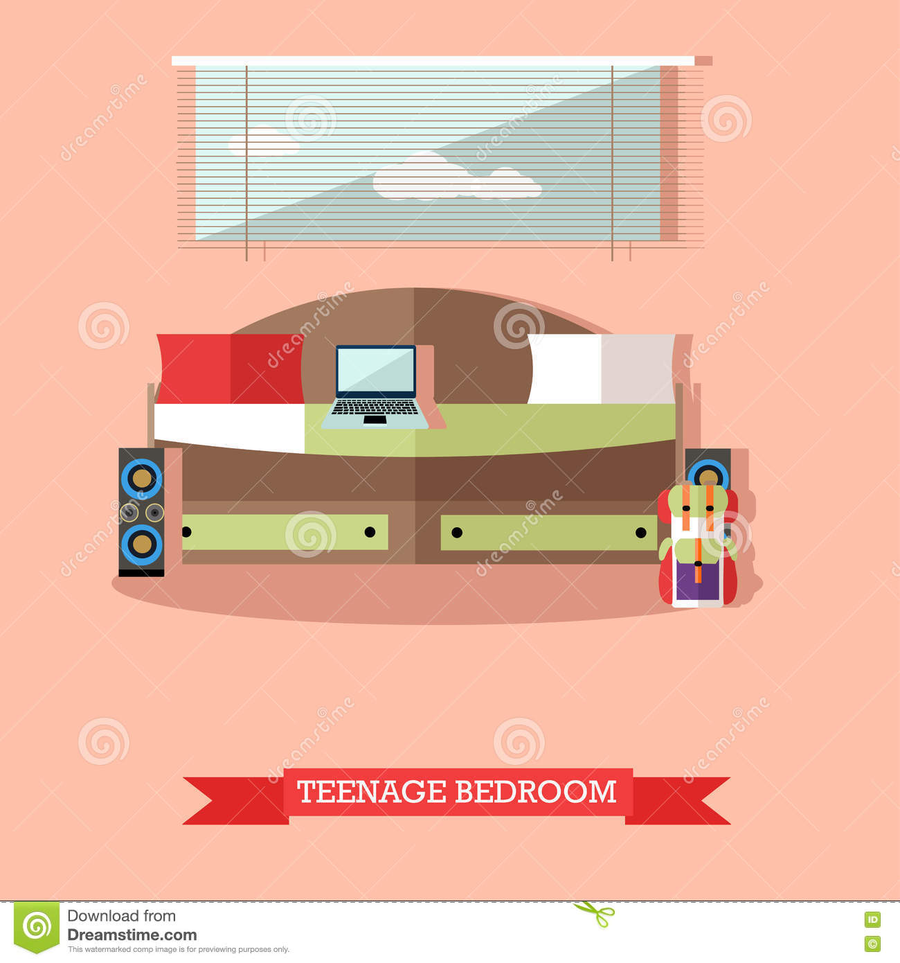 Vector set of family concept design elements in flat style cartoon vector - Home design elements ...