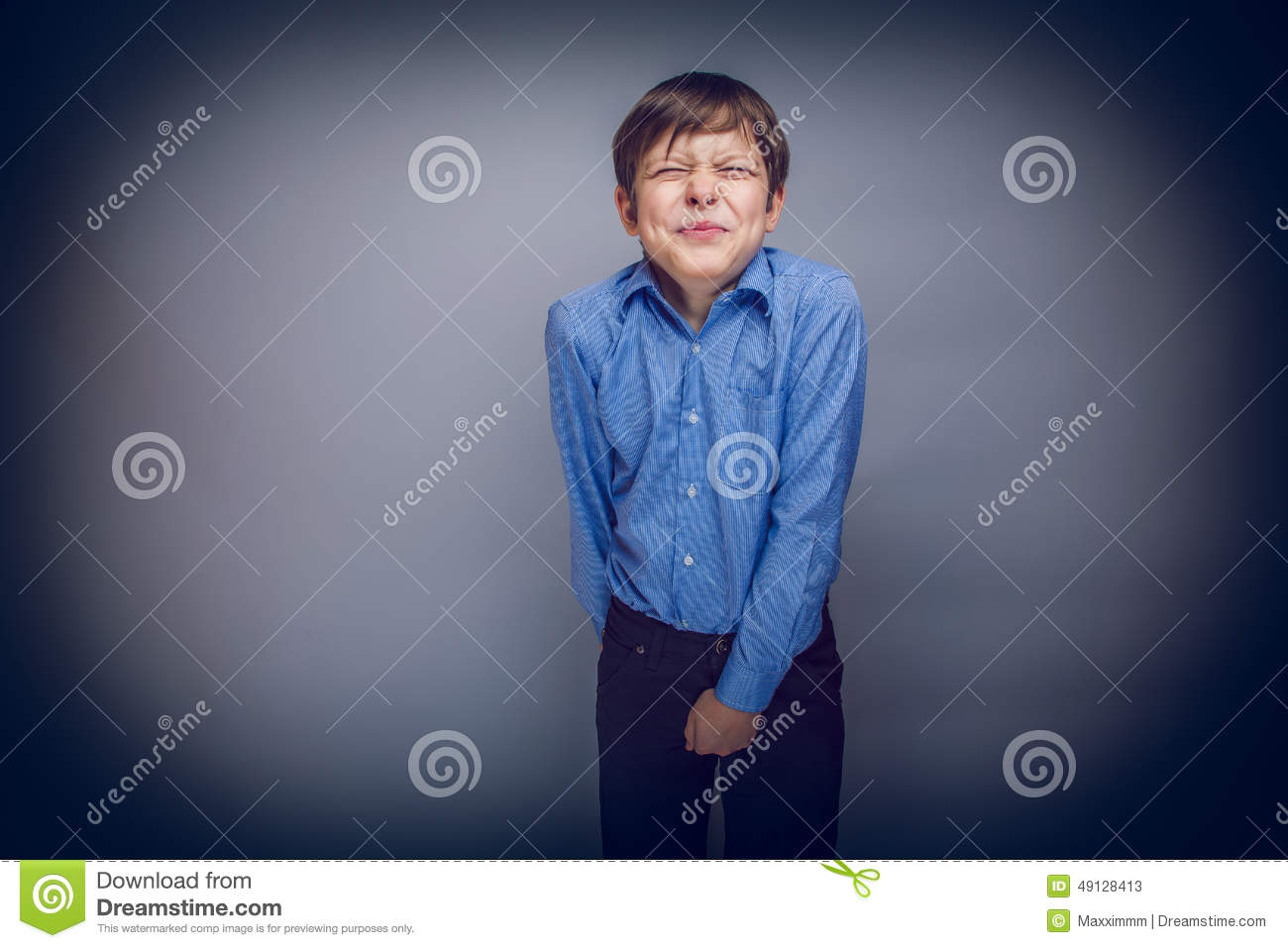 Teenager Boy 10 Years Of European Appearance Stock Photo