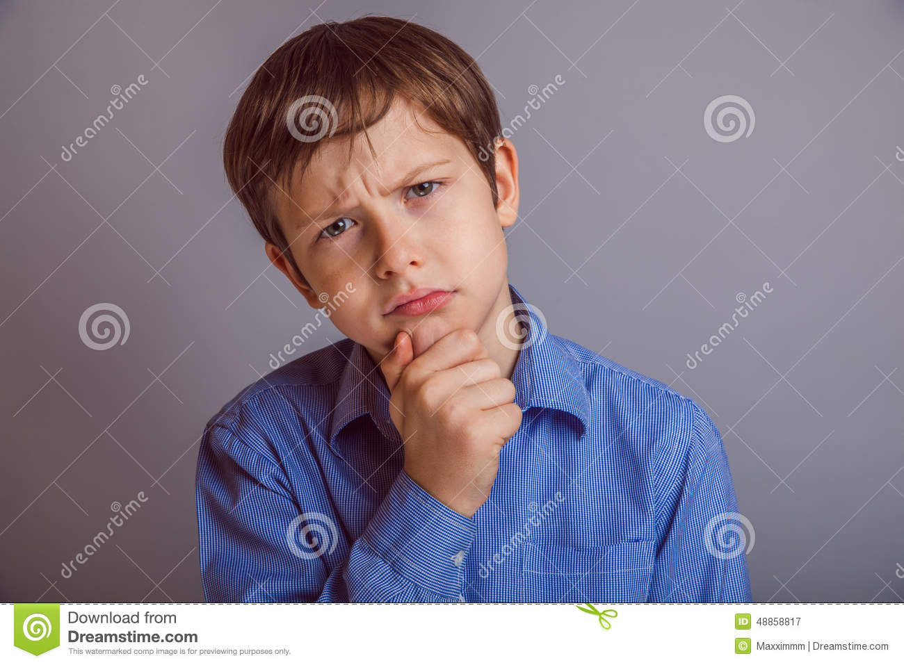 A Boy Of 10 Years Of European Appearance Naked Stock Image
