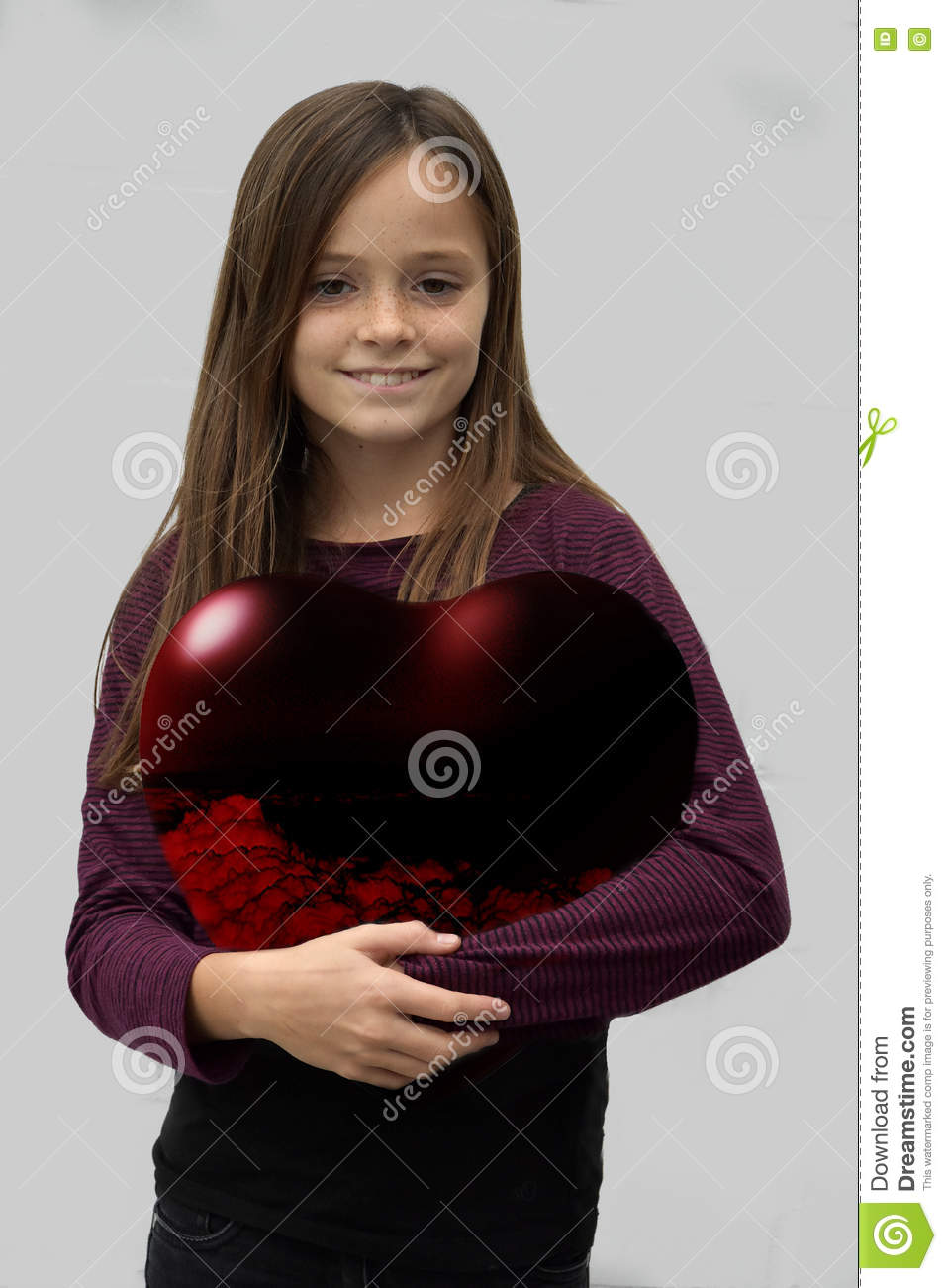 Oregon City (OR) United States  city images : Teenager Carries A Big Red Heart Stock Photo Image: 80745872