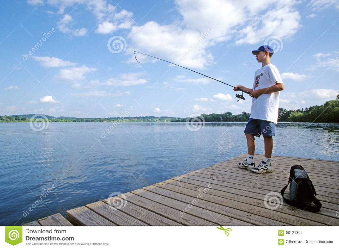 Teenager fishing editorial stock image image of clouds for Fishing license vt