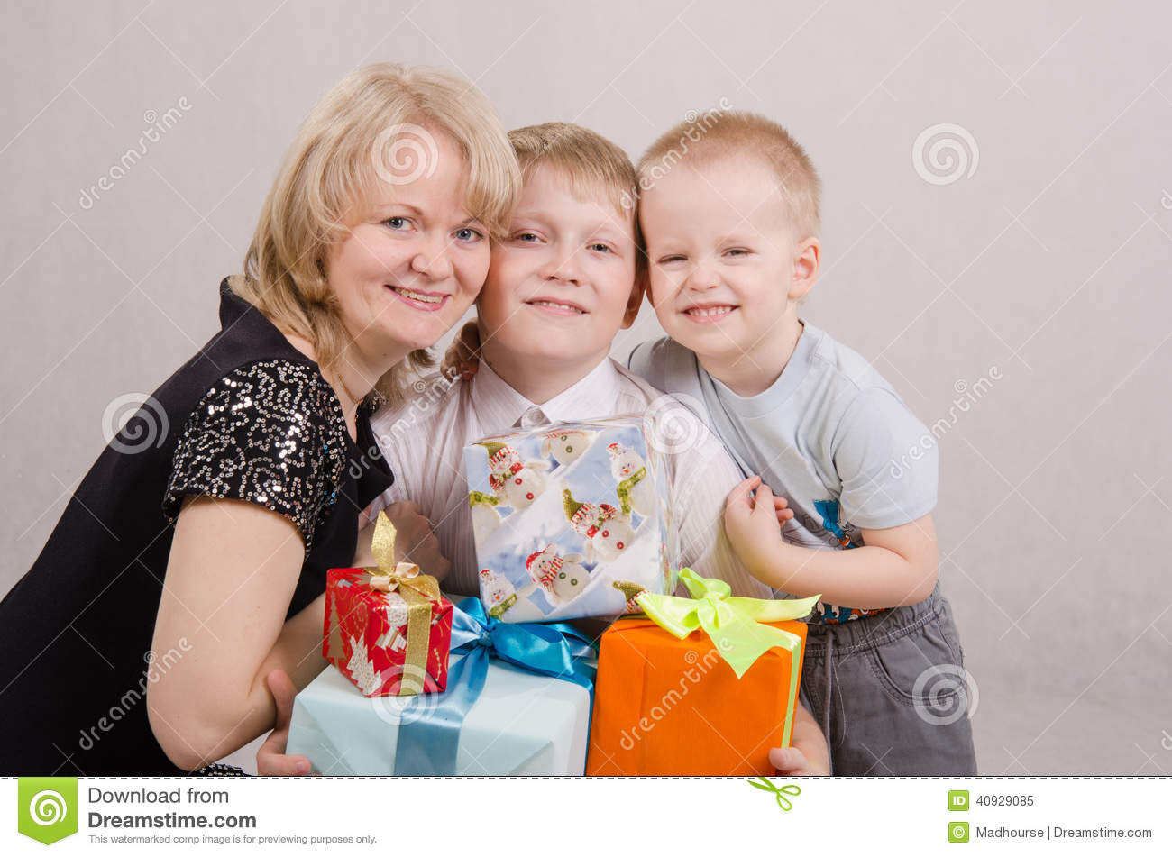 Teenager Gave Birthday Gifts Stock Photo
