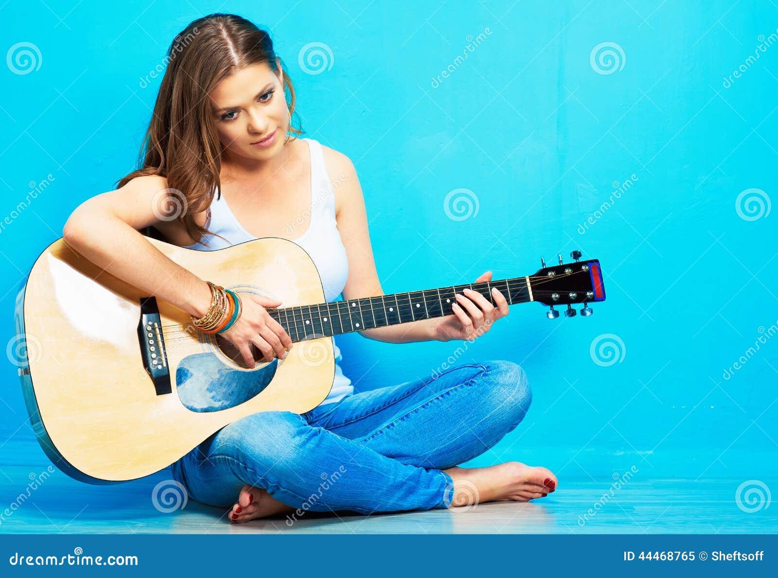 Holding naked blonde guitar girls