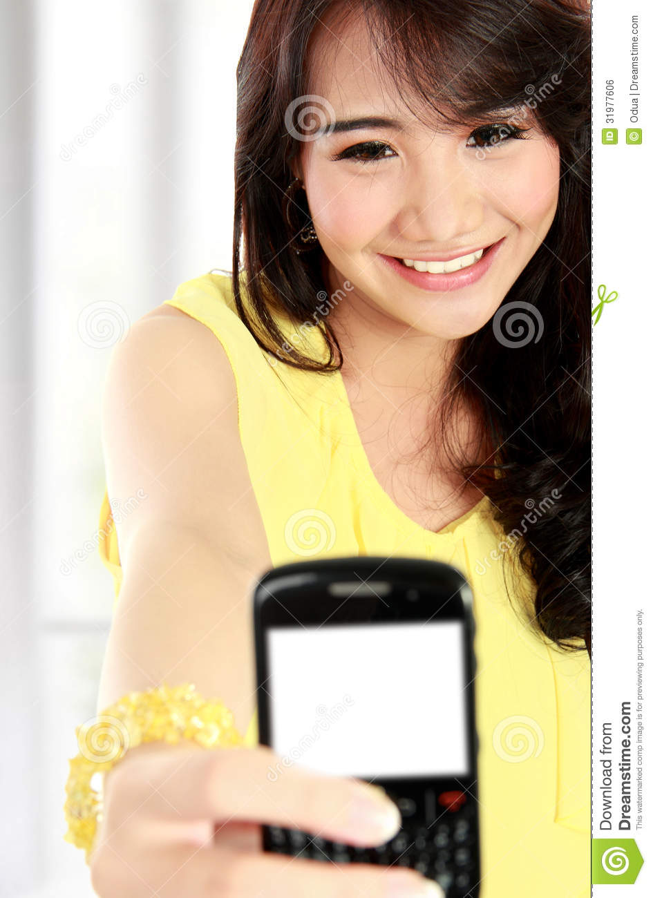 Teenager Take A Self Portrait With Phone Stock Photography