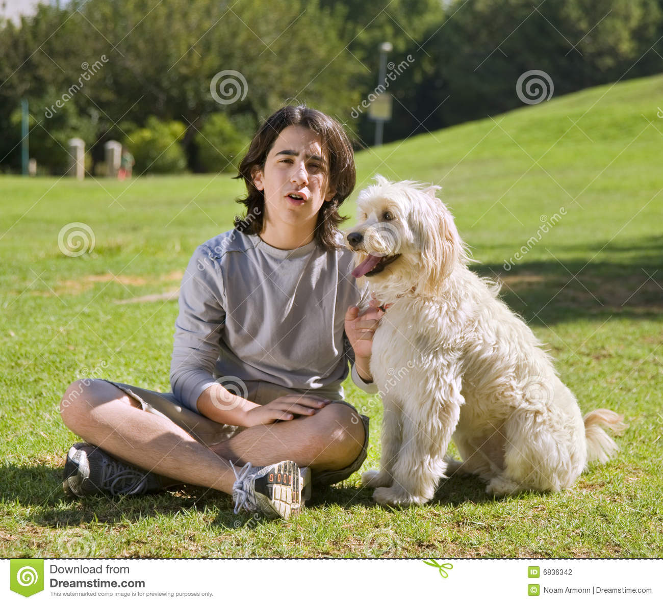 Teenager and his dog