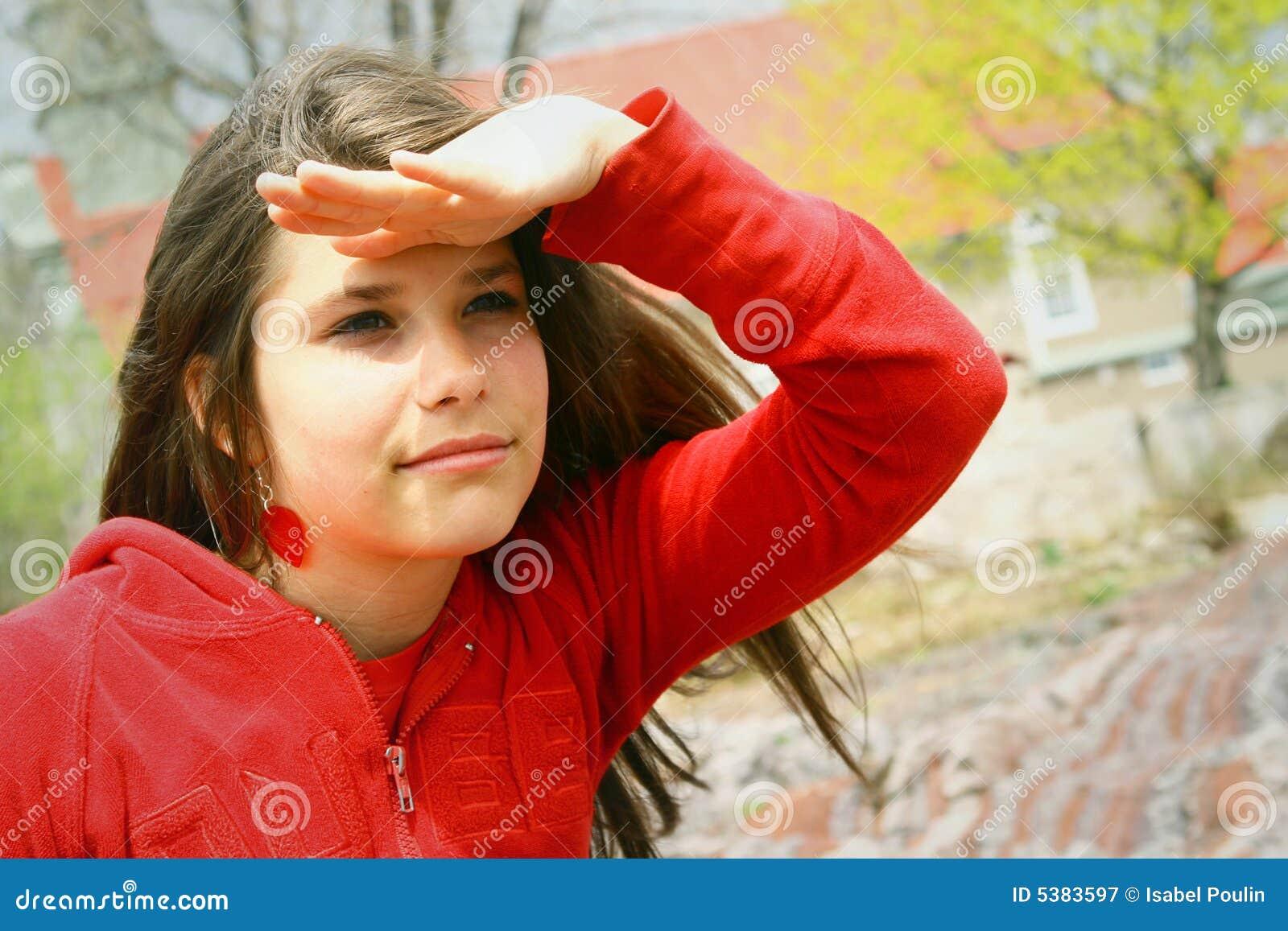 Teenager looking far away royalty free stock photography for Bastelideen fa r teenager