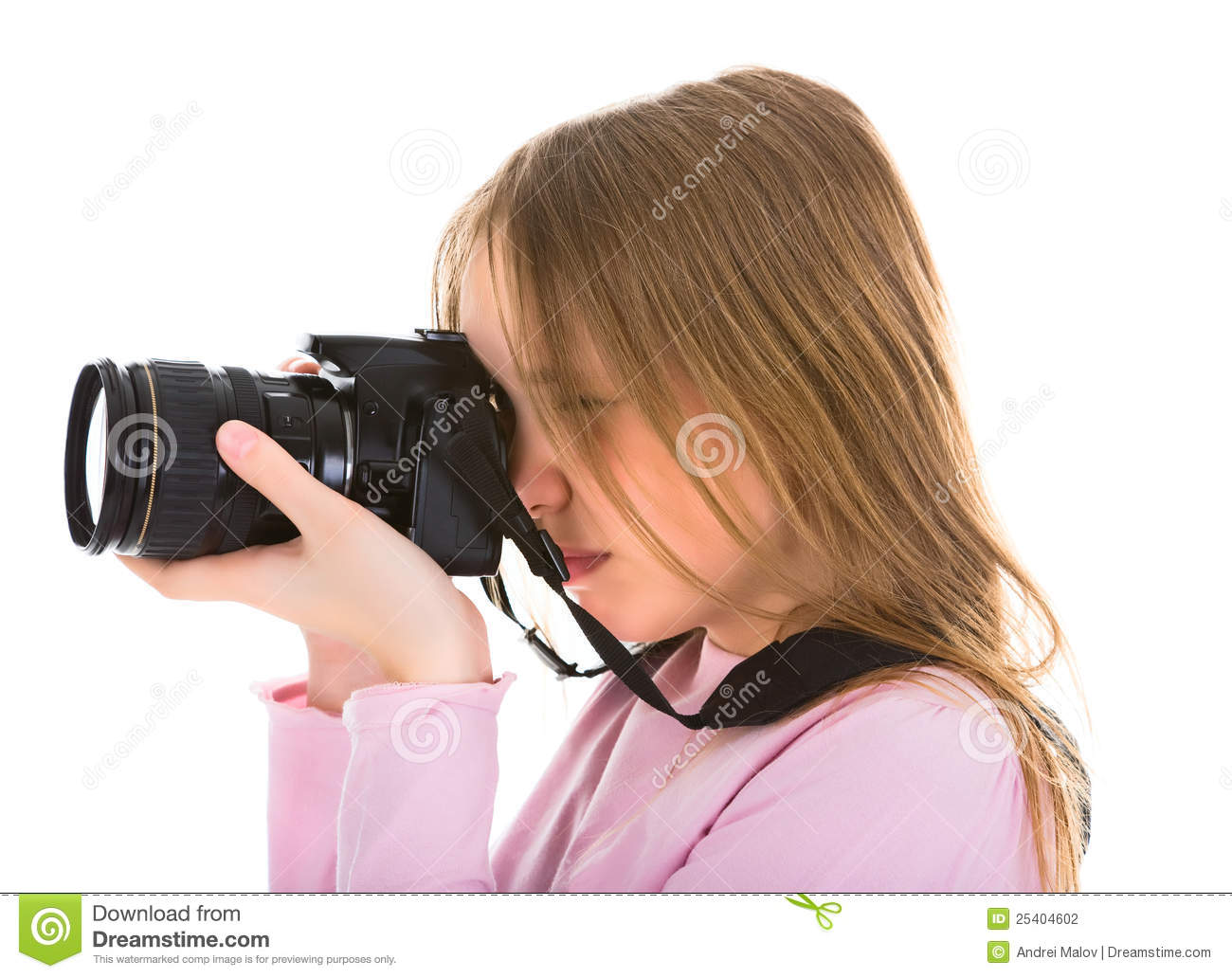 Teenager photographer with her digital camera