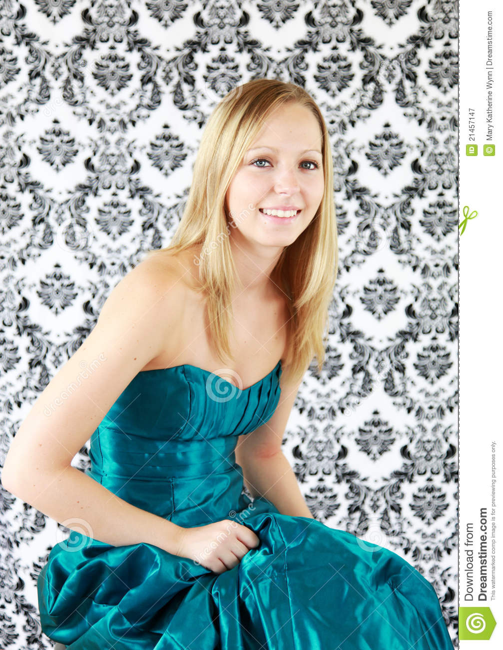 Teenager In Prom Dress Stock Image Image Of Prom Background 21457147